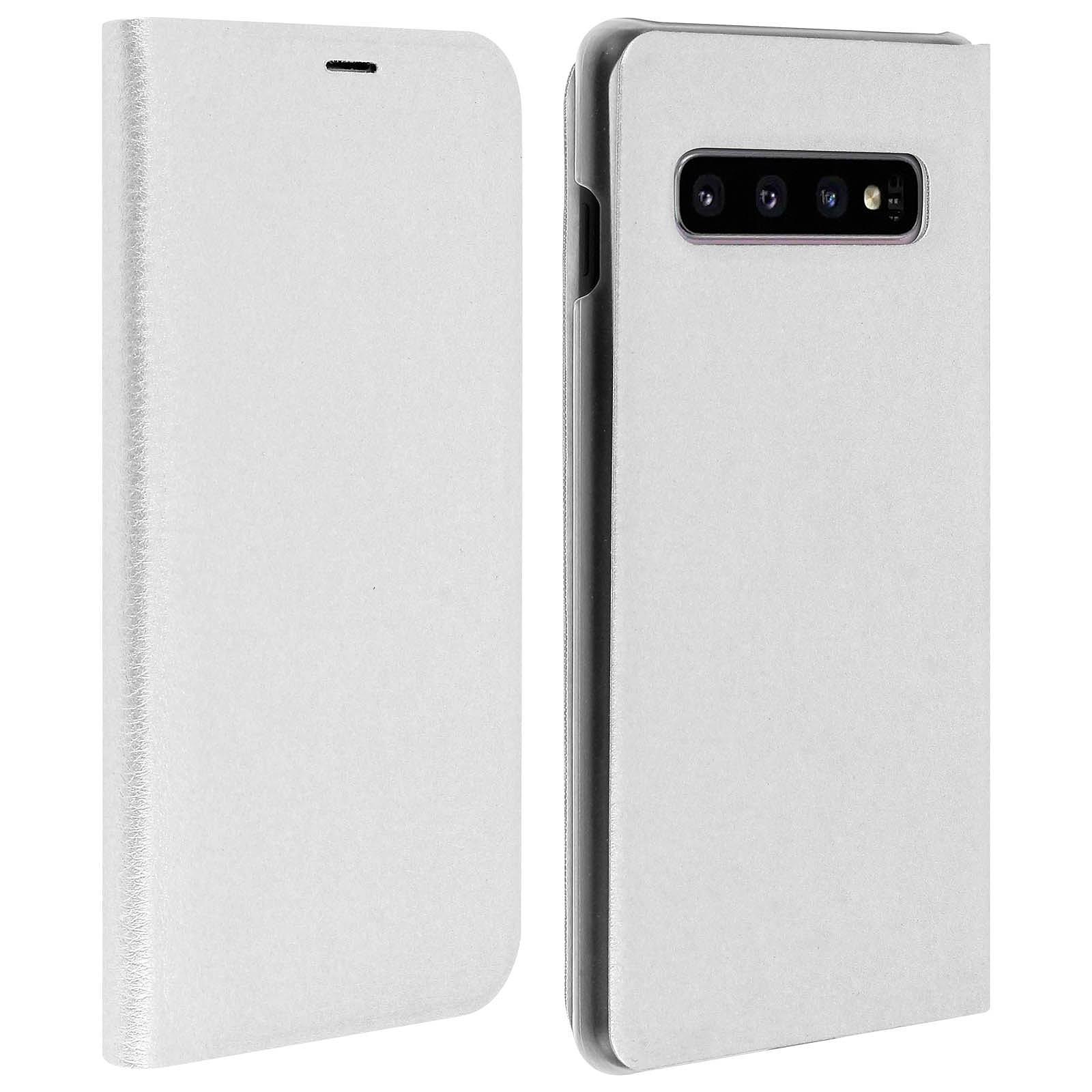 Avizar Etui folio Blanc pour Samsung Galaxy S10 Plus