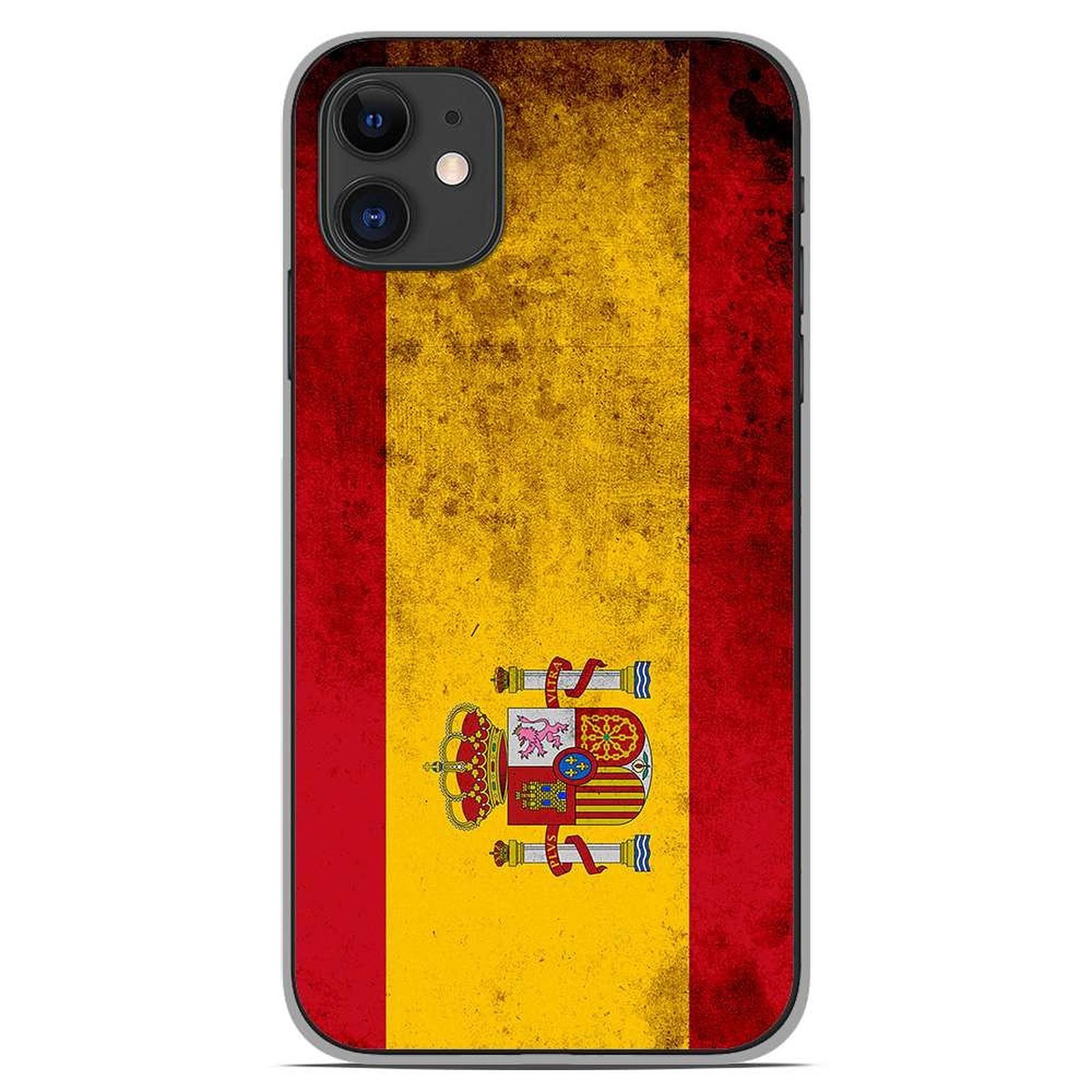 1001 Coques Coque silicone gel Apple iPhone 11 motif Drapeau Espagne