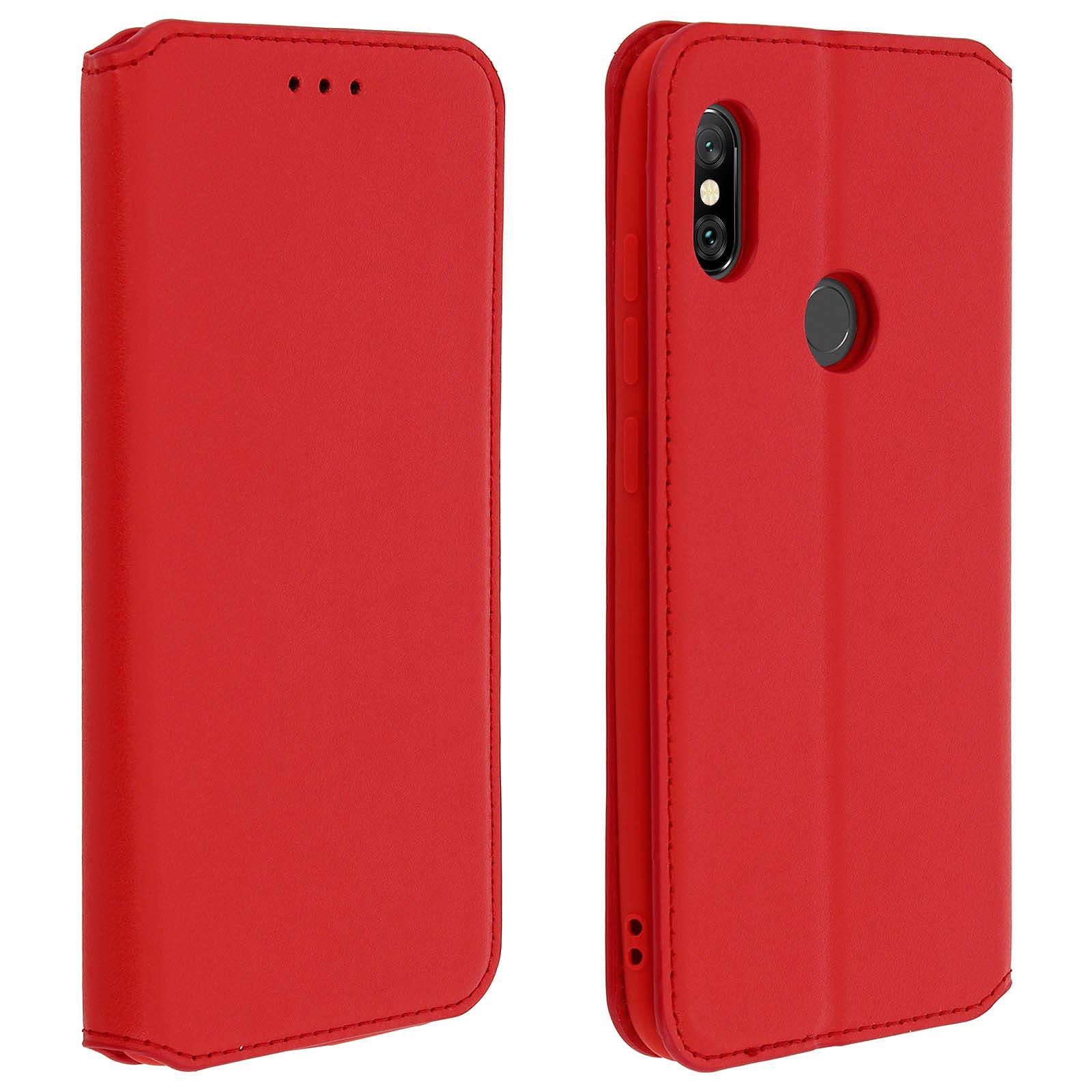 Avizar Etui folio Rouge pour Xiaomi Redmi Note 6 Pro