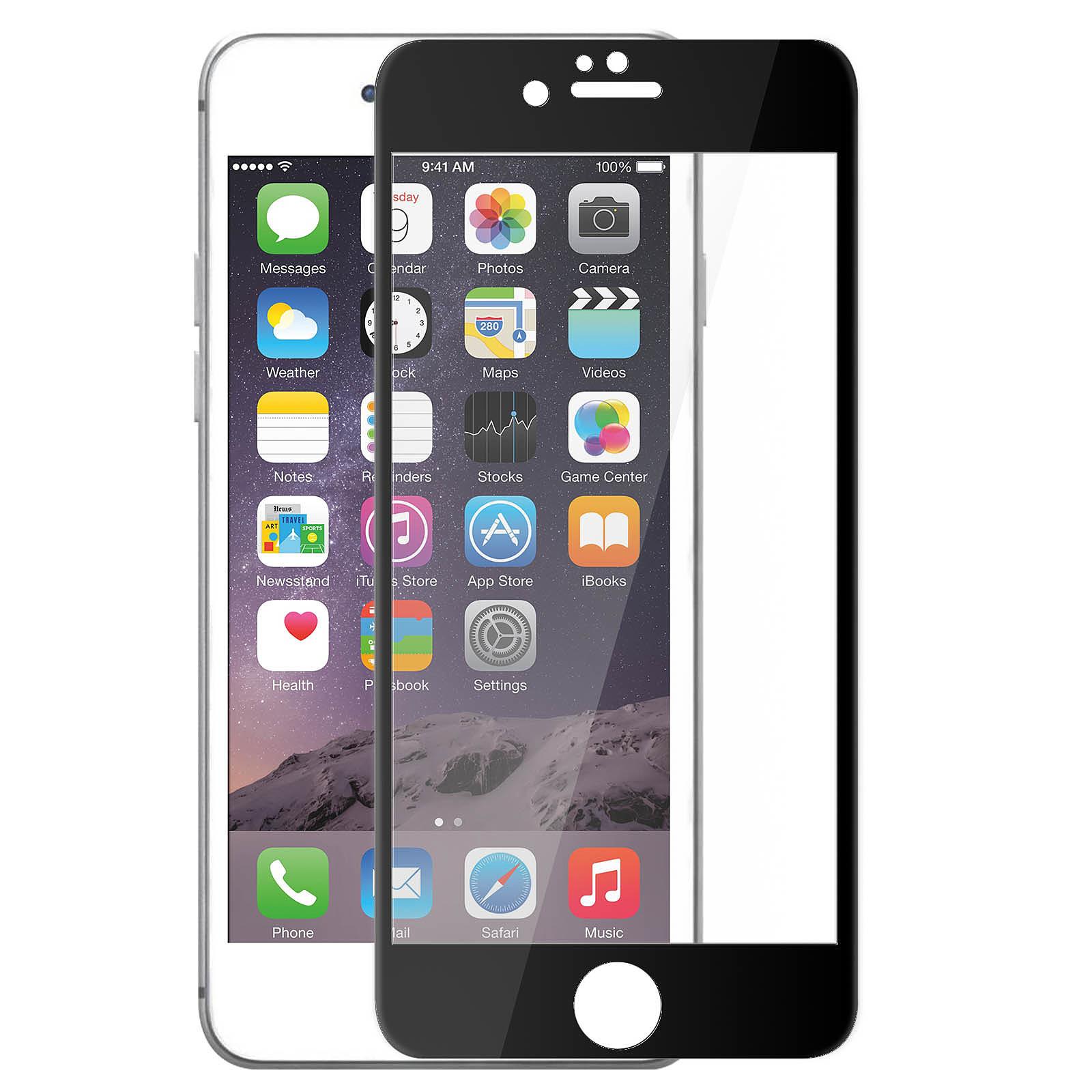Avizar Film verre trempé Noir pour Apple iPhone 6 Plus , Apple iPhone 6S Plus
