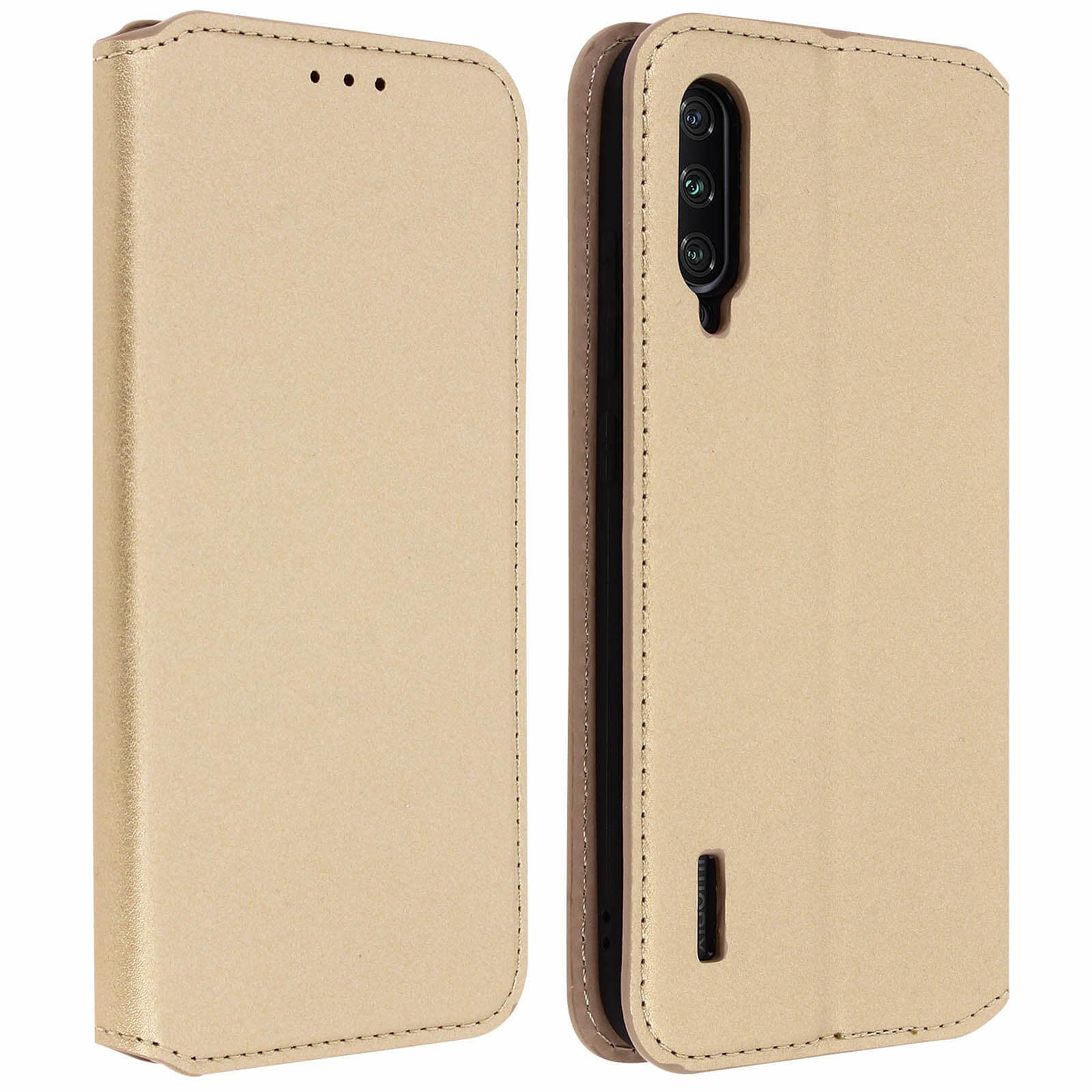Avizar Etui folio Dorée Éco-cuir pour Xiaomi Mi A3
