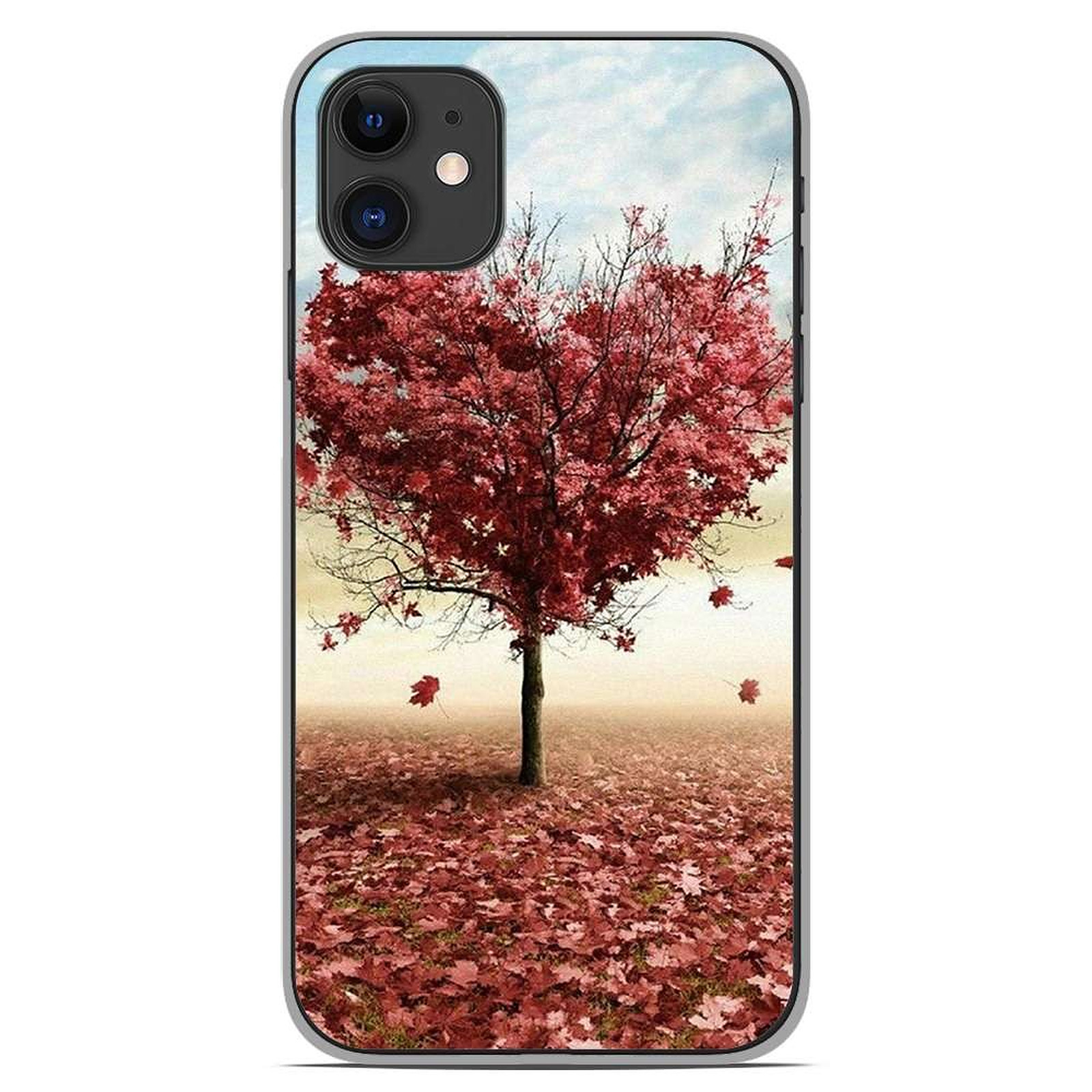 1001 Coques Coque silicone gel Apple iPhone 11 motif Arbre Love