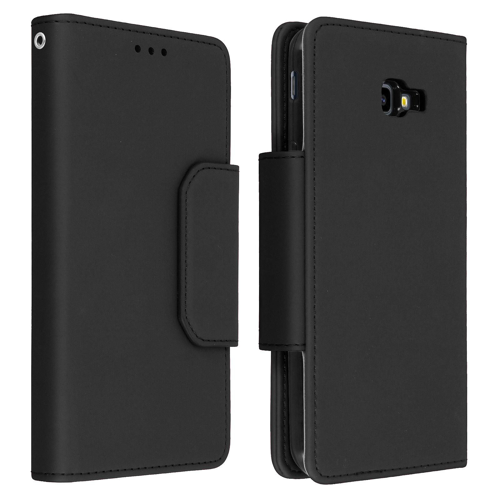 Avizar Etui folio Noir pour Samsung Galaxy J4 Plus