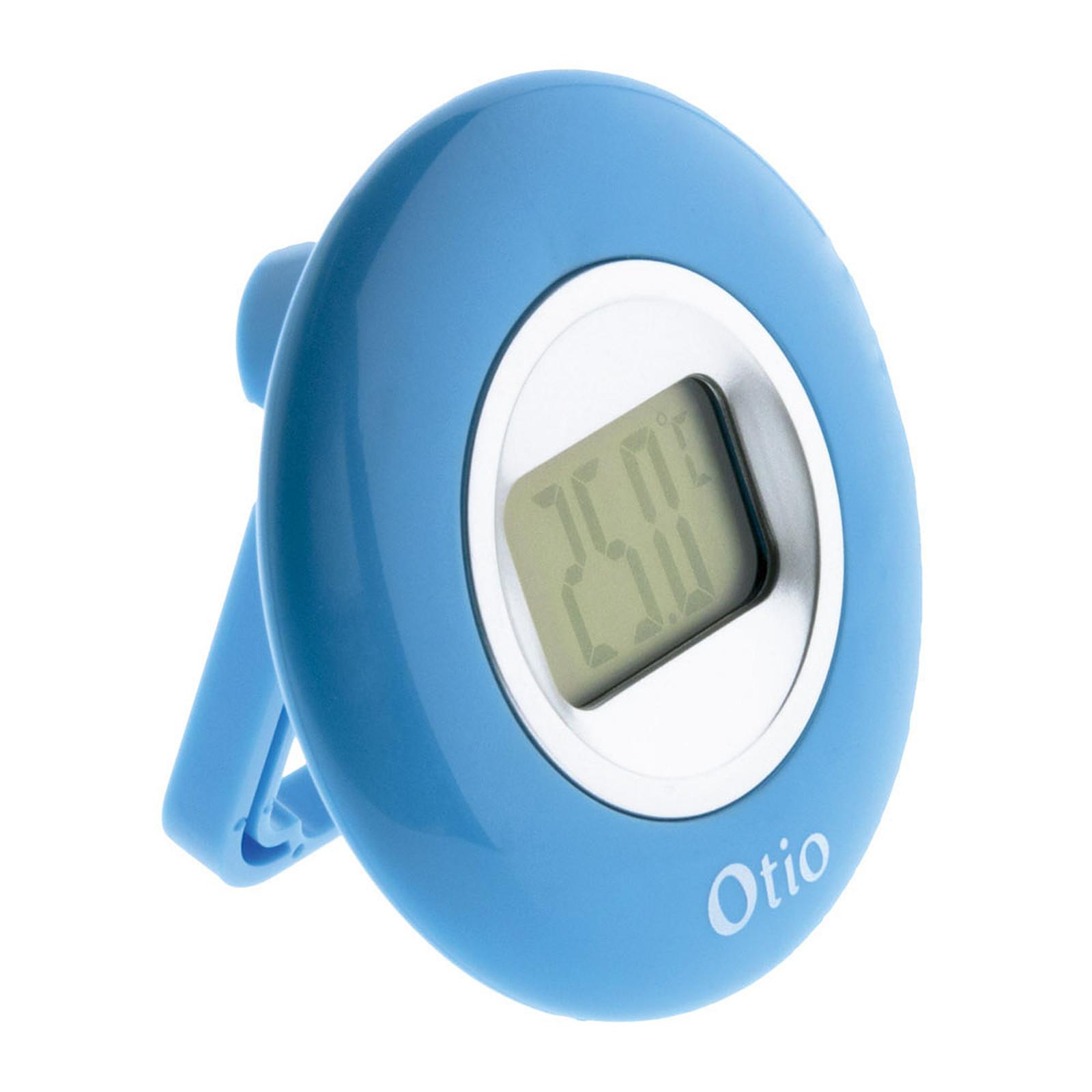 Otio Thermomètre intérieur à écran LCD Bleu