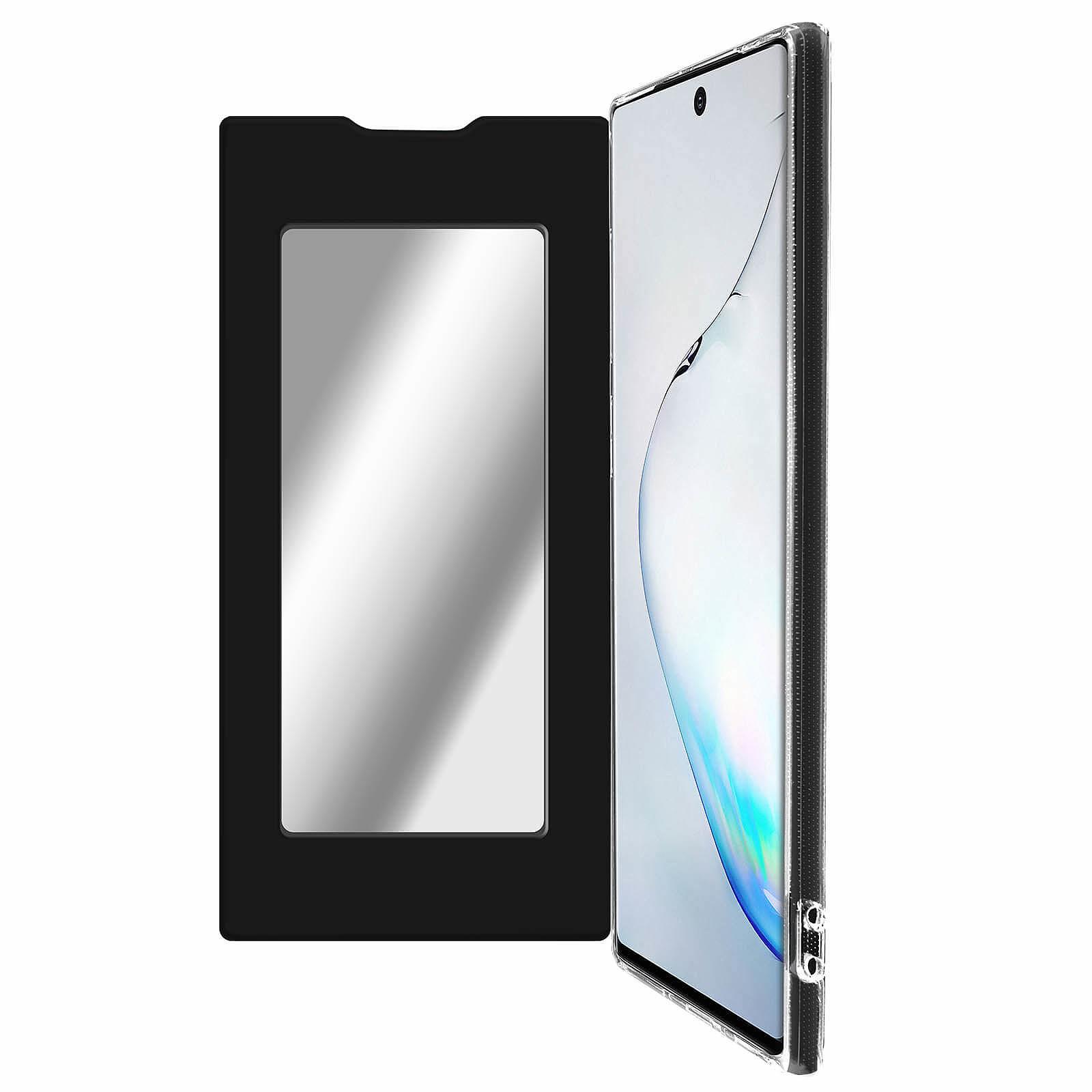 Avizar Etui folio Noir Miroir pour Samsung Galaxy Note 10
