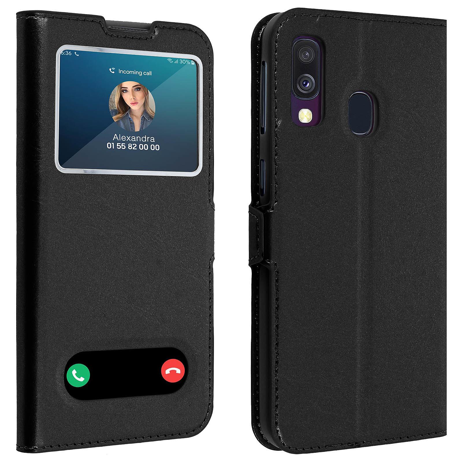 Avizar Etui folio Noir pour Samsung Galaxy A40