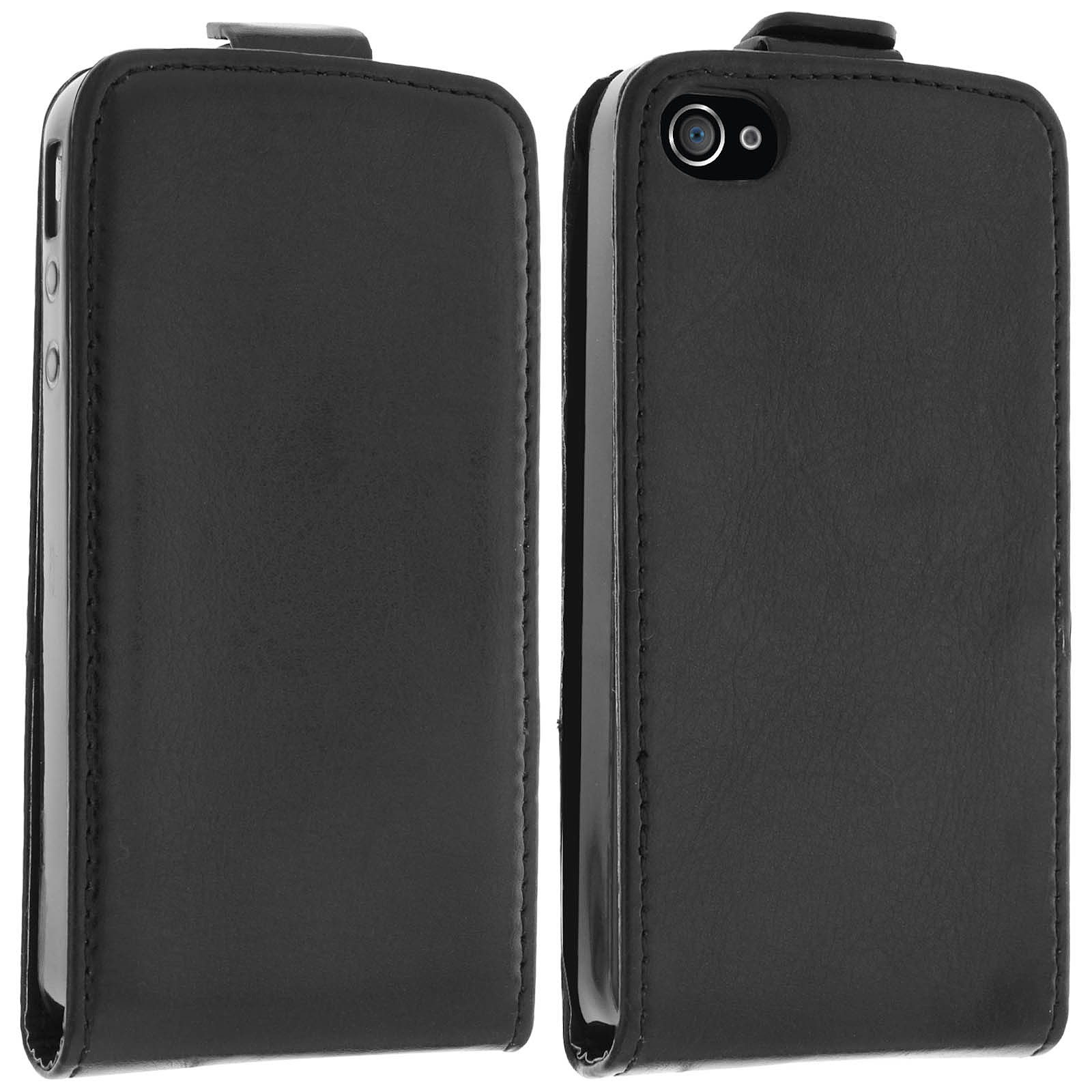 Avizar Etui à clapet Noir pour Apple iPhone 4 , Apple iPhone 4S