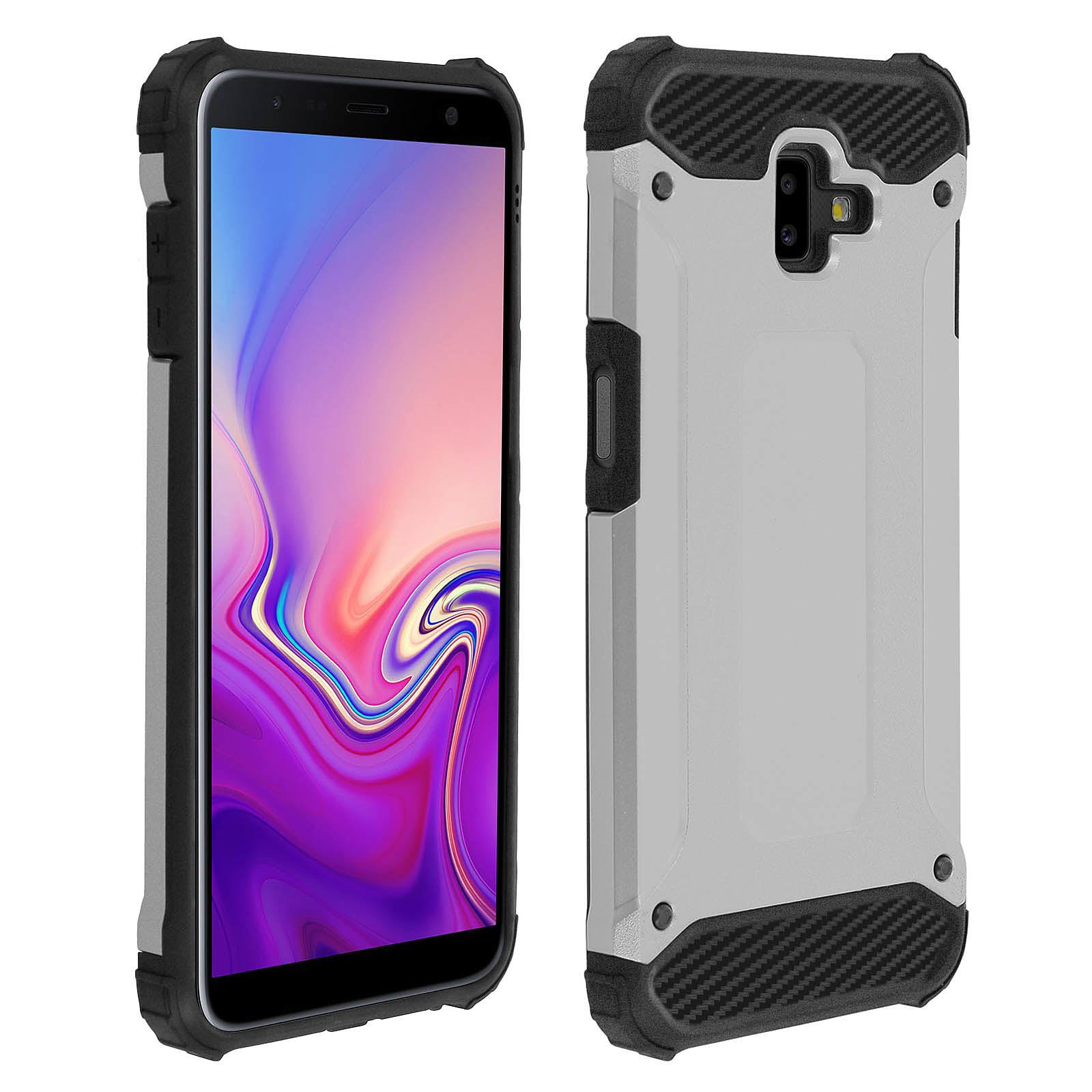 Avizar Coque Argent pour Samsung Galaxy J6 Plus
