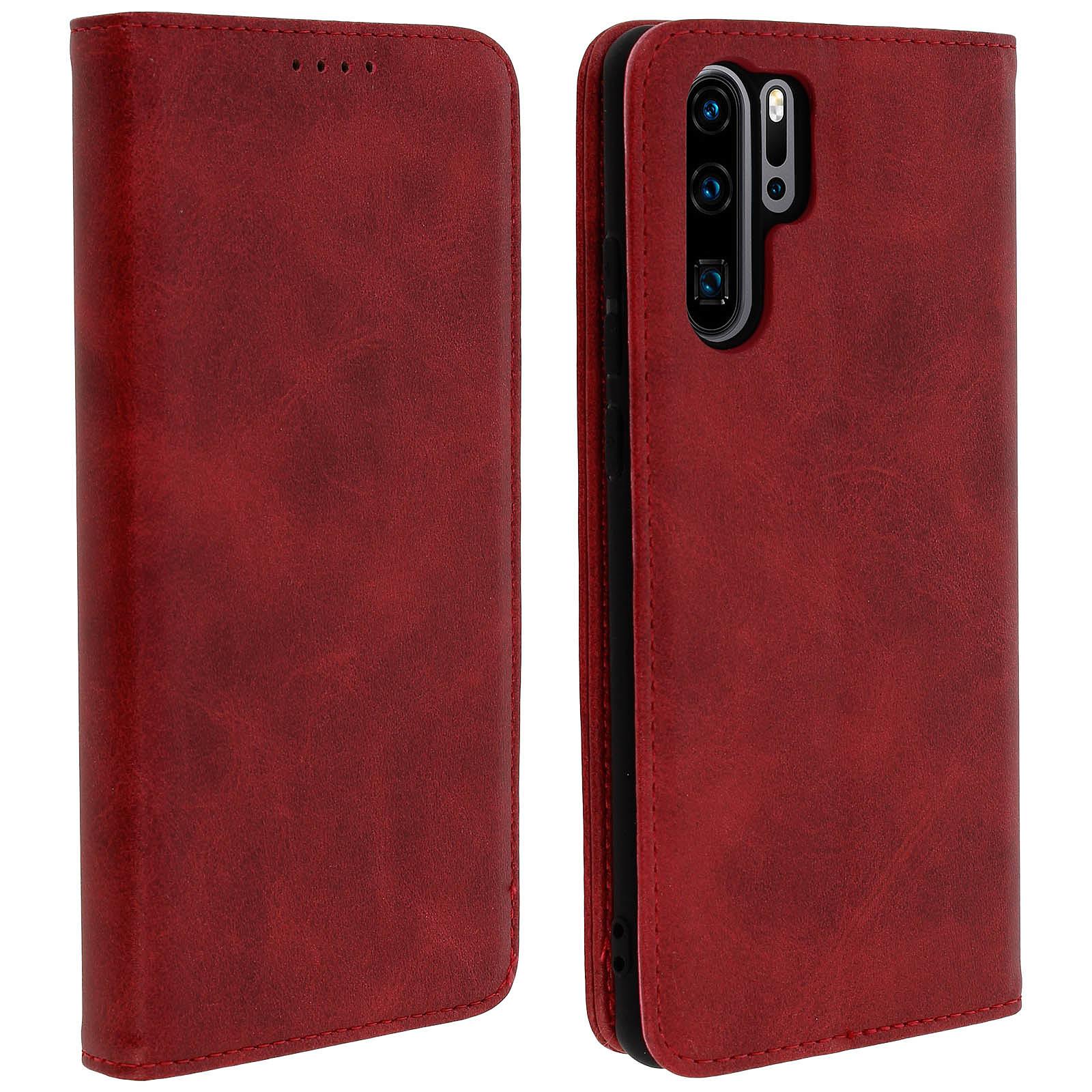 Avizar Etui folio Rouge Portefeuille pour Huawei P30 Pro