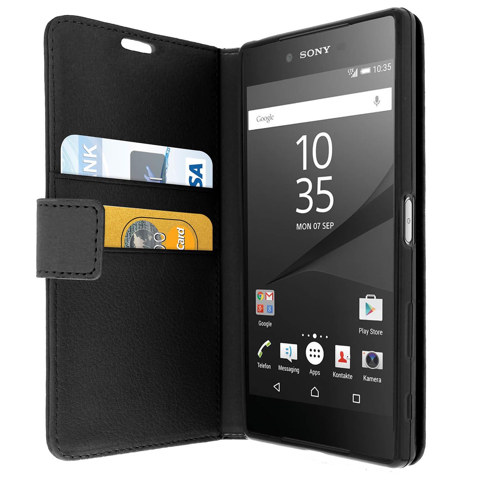 Avizar Etui folio Noir pour Sony Xperia Z5