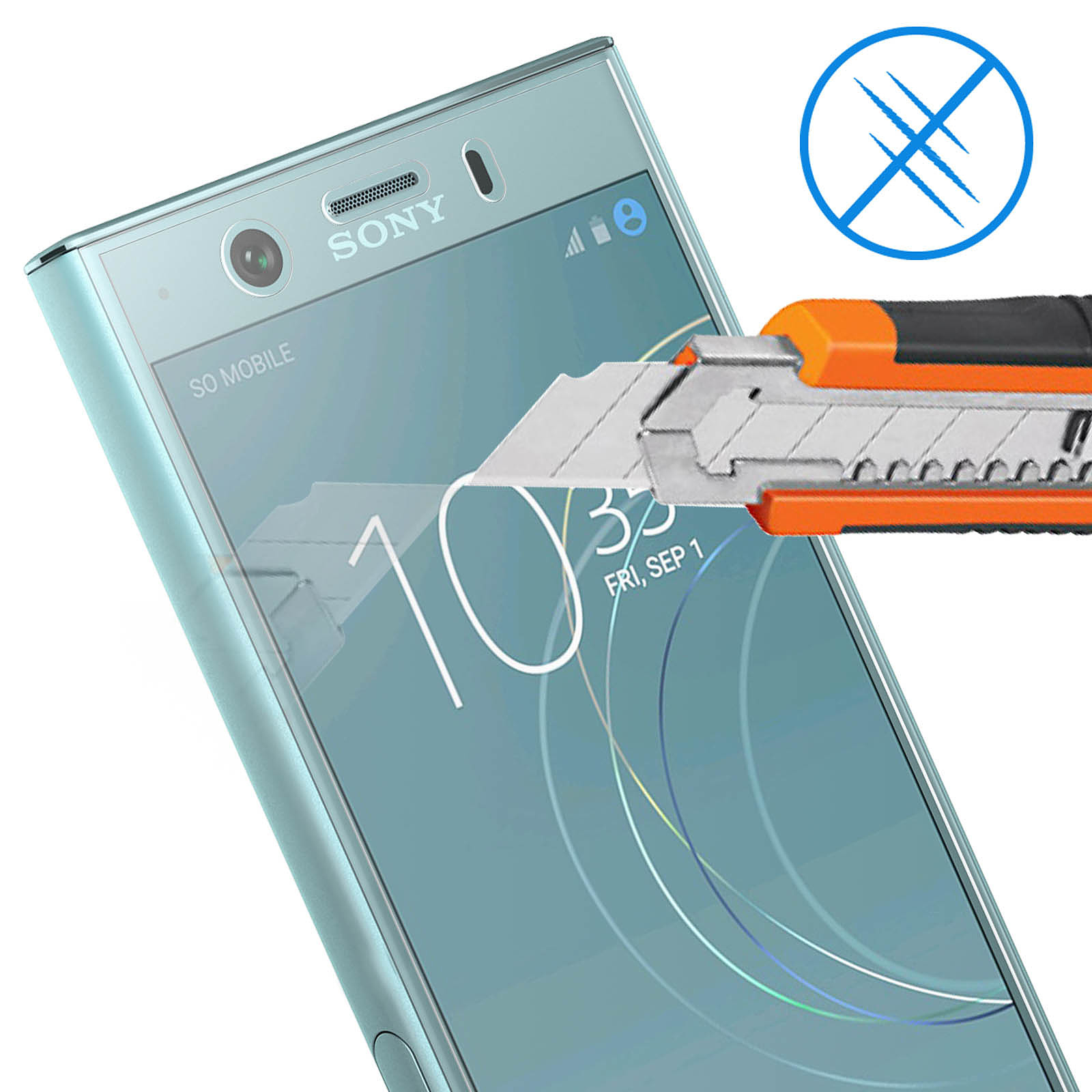 Avizar Film protecteur Transparent pour Sony Xperia XZ1 Compact