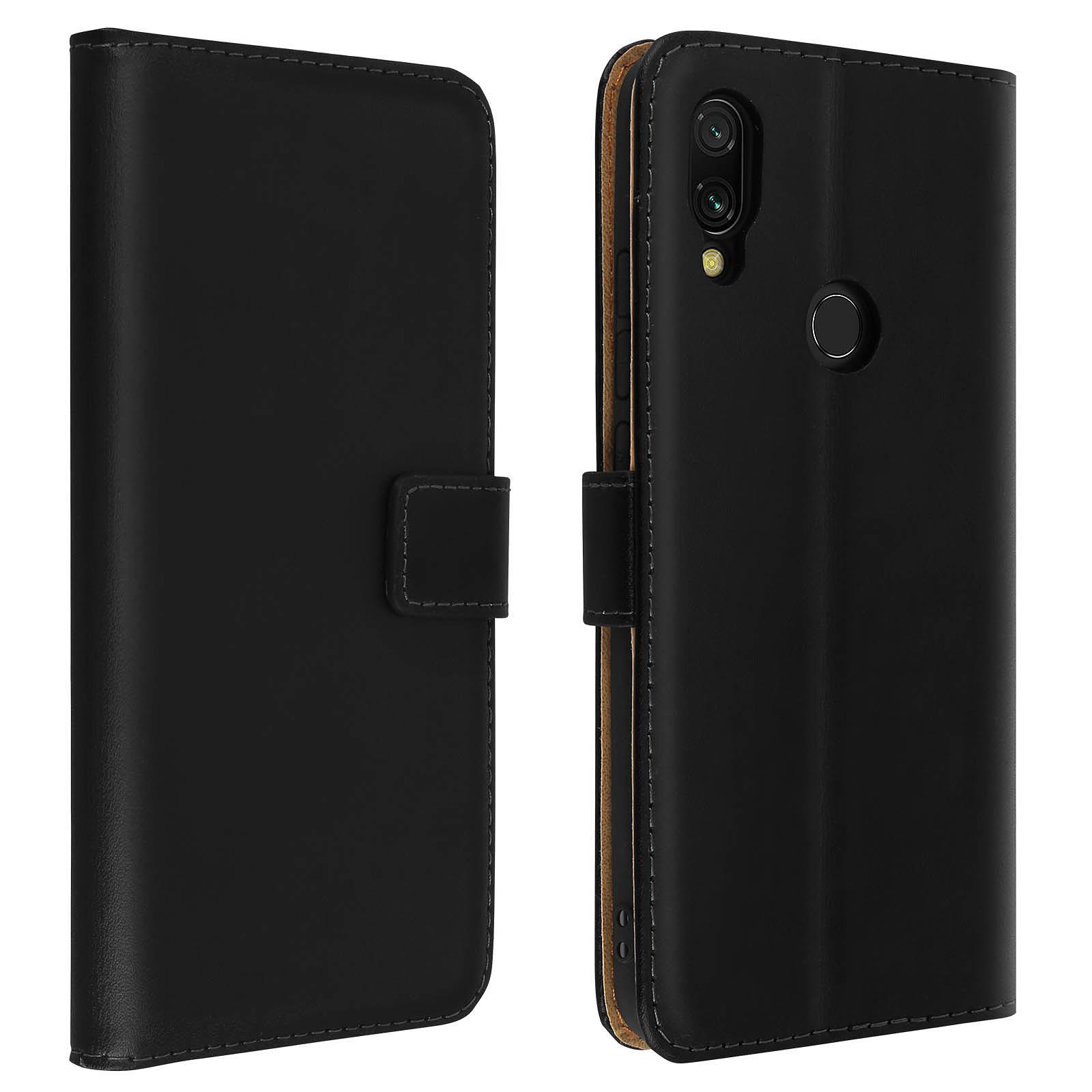 Avizar Etui folio Noir pour Xiaomi Redmi 7