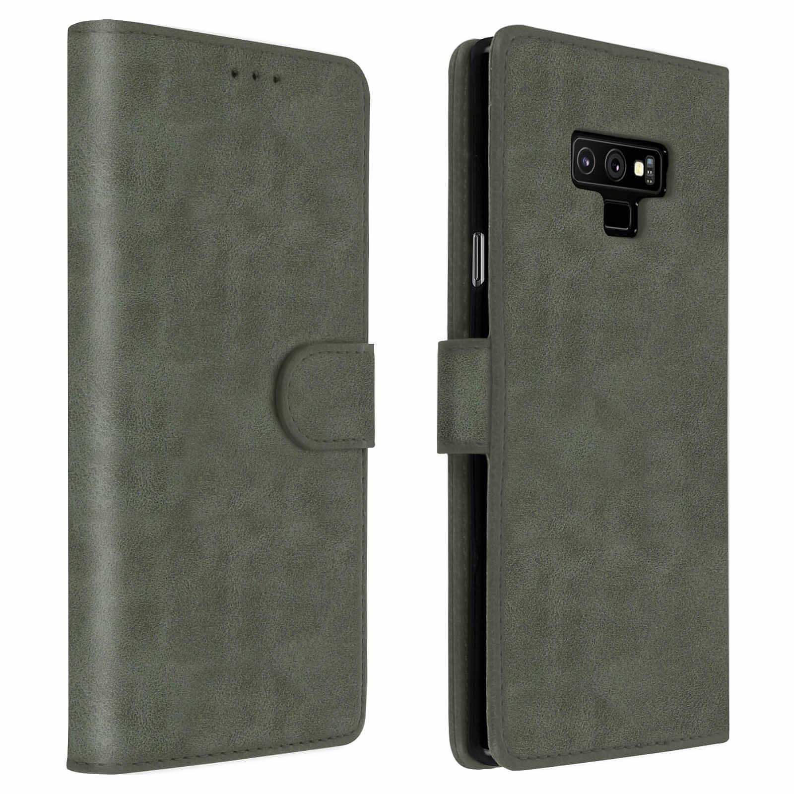Avizar Etui folio Gris pour Samsung Galaxy Note 9