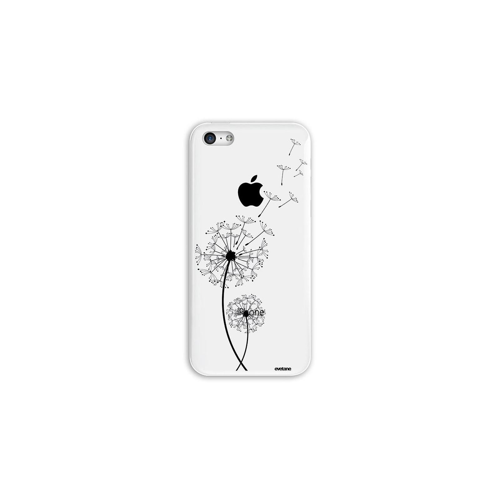 EVETANE Coque iPhone 5C rigide transparente Pissenlit Dessin - Coque téléphone Evetane sur LDLC