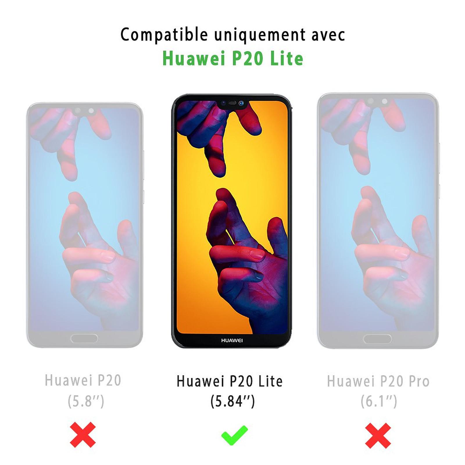 EVETANE Coque Huawei P20 Lite 360 intégrale transparente Cactus Love Tendance