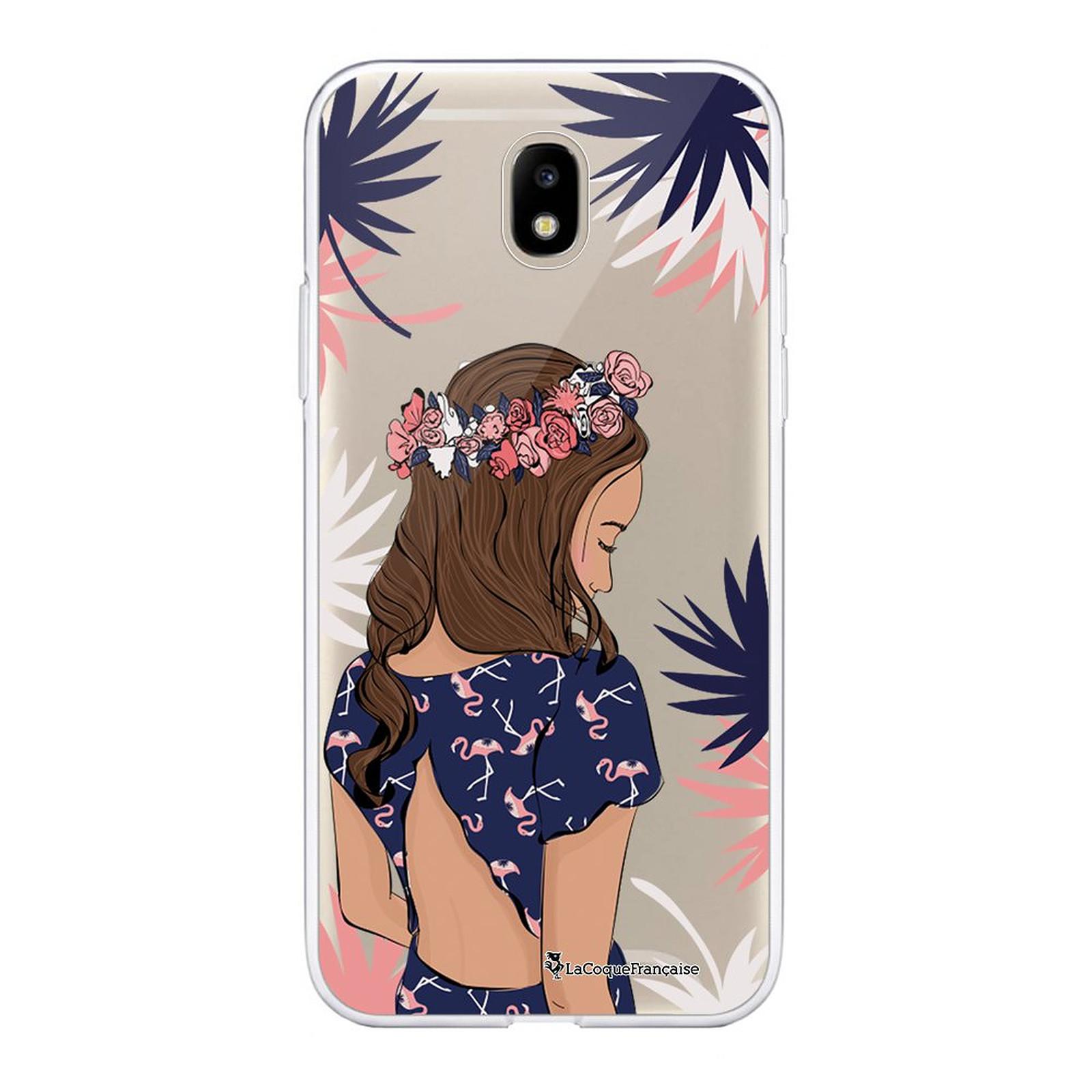 LA COQUE FRANCAISE Coque Samsung Galaxy J5 2017 souple transparente Couronne de fleurs - Coque téléphone LaCoqueFrançaise sur LDLC