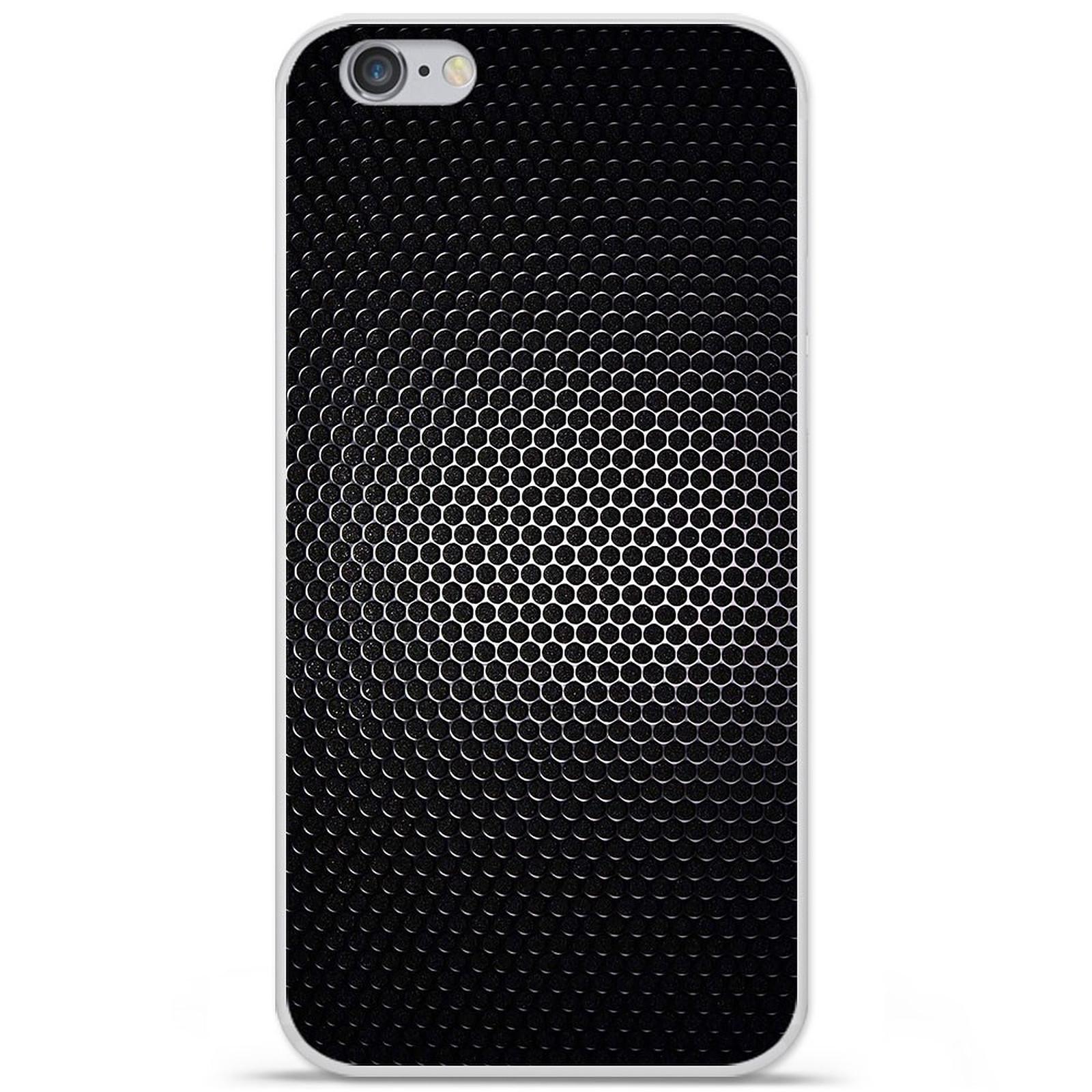 1001 Coques Coque silicone gel Apple IPhone 7 Plus motif Dark Metal