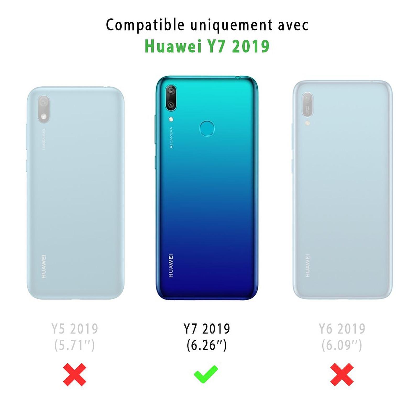 EVETANE Coque Huawei Y7 2019 souple transparente Tropical Summer
