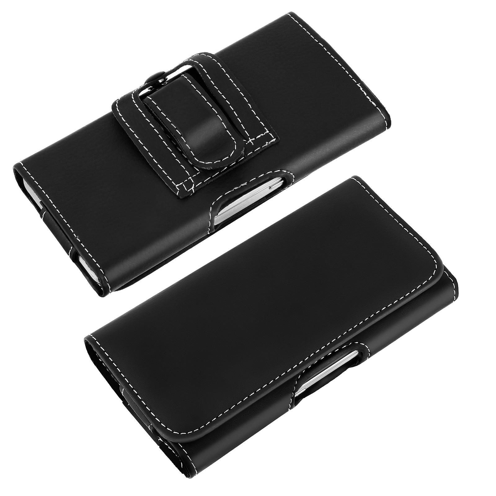 Avizar Etui ceinture Noir pour Smartphone de taille maximale 137 x 67 mm
