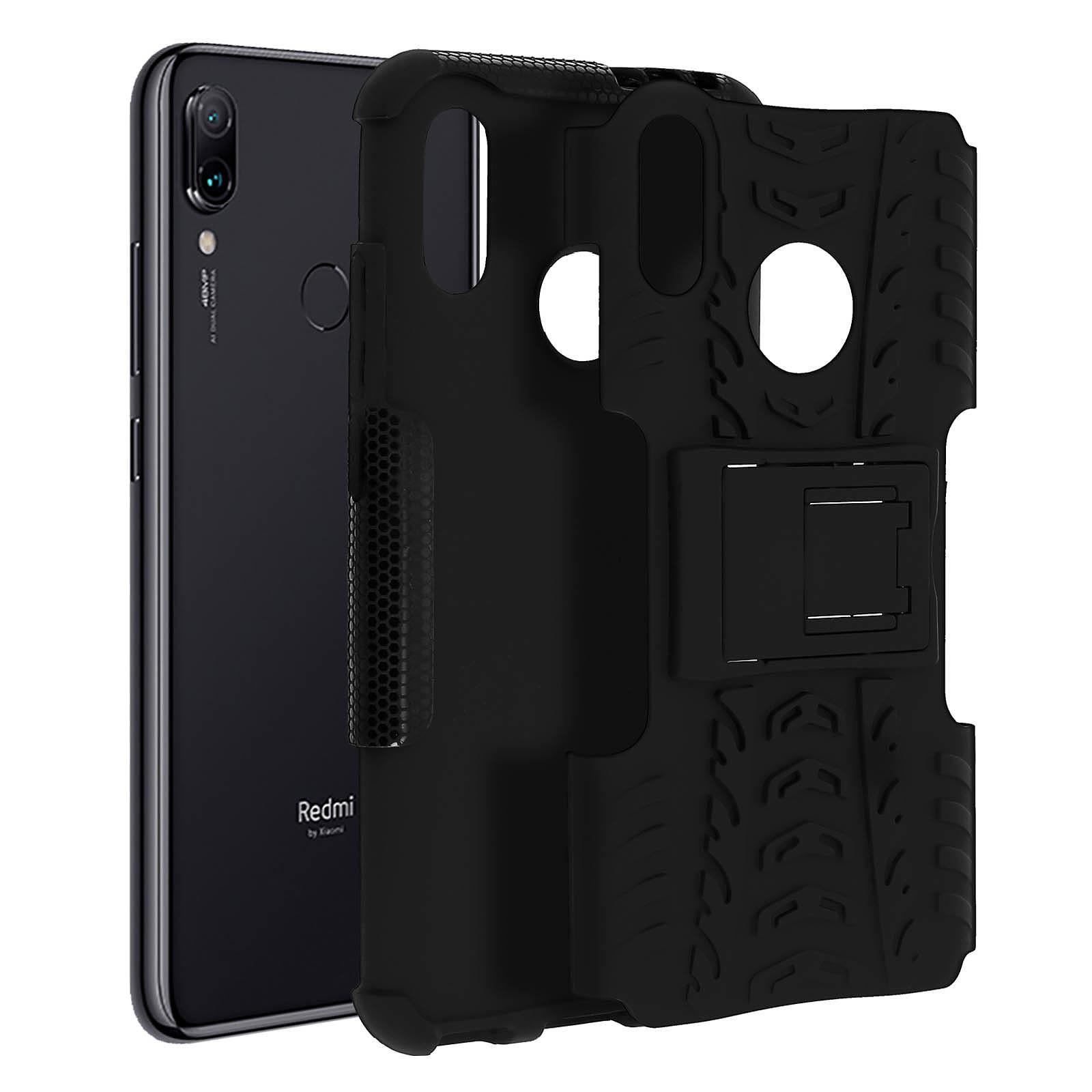 Avizar Coque Noir Hybride pour Xiaomi Redmi 7