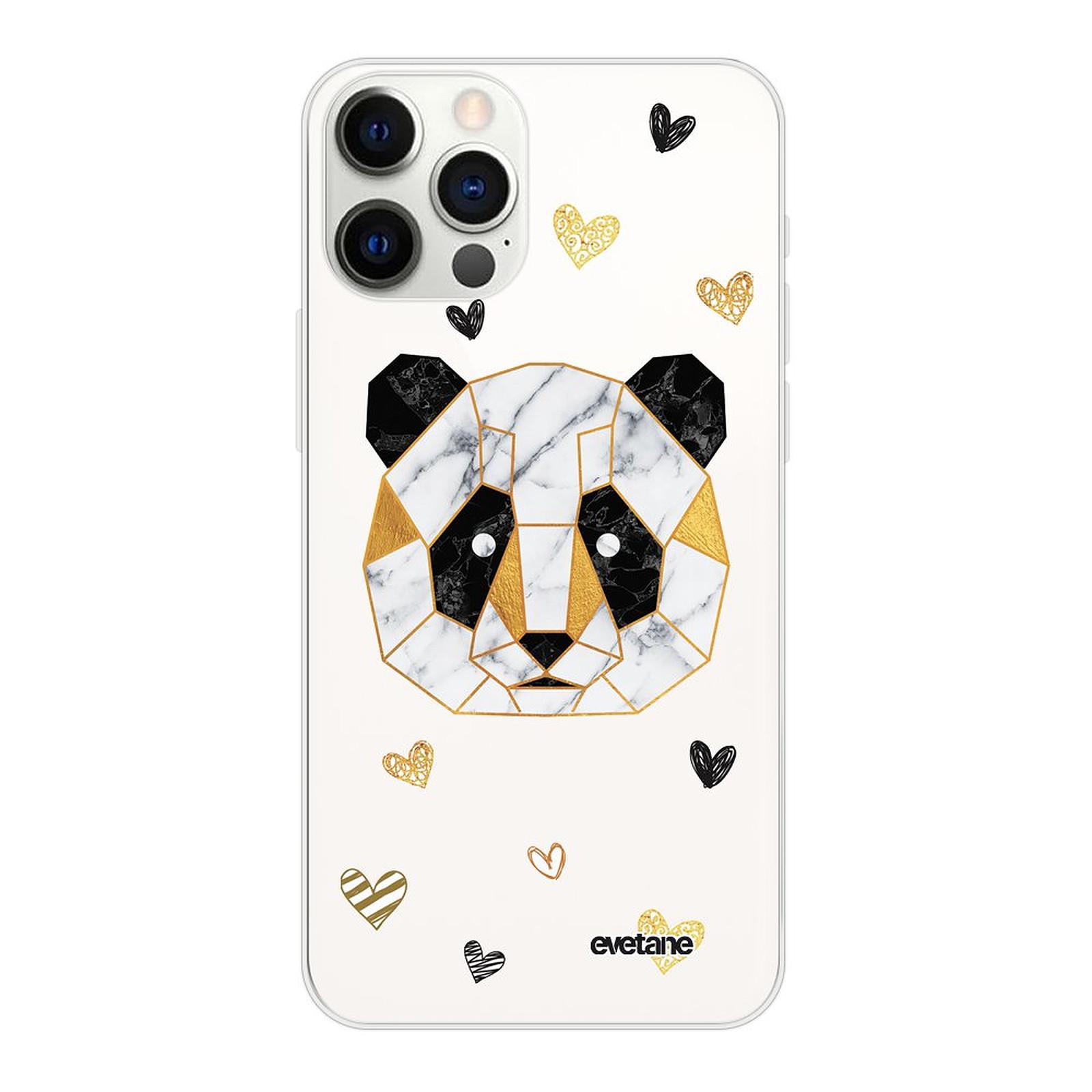 EVETANE Coque iPhone 12 Pro Max souple transparente Panda Géométrique - Coque téléphone Evetane sur LDLC