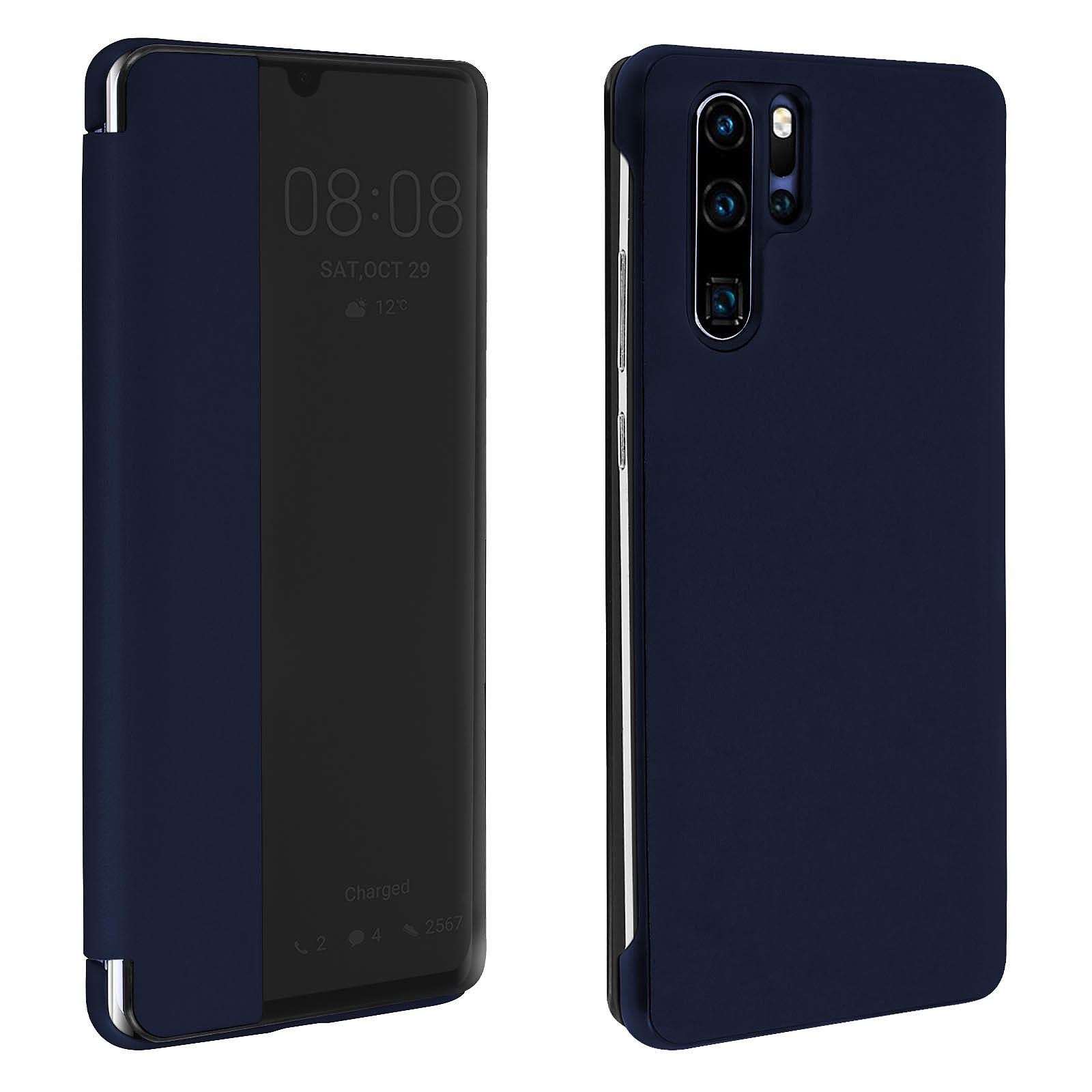 Avizar Etui folio Bleu Nuit pour Huawei P30 Pro