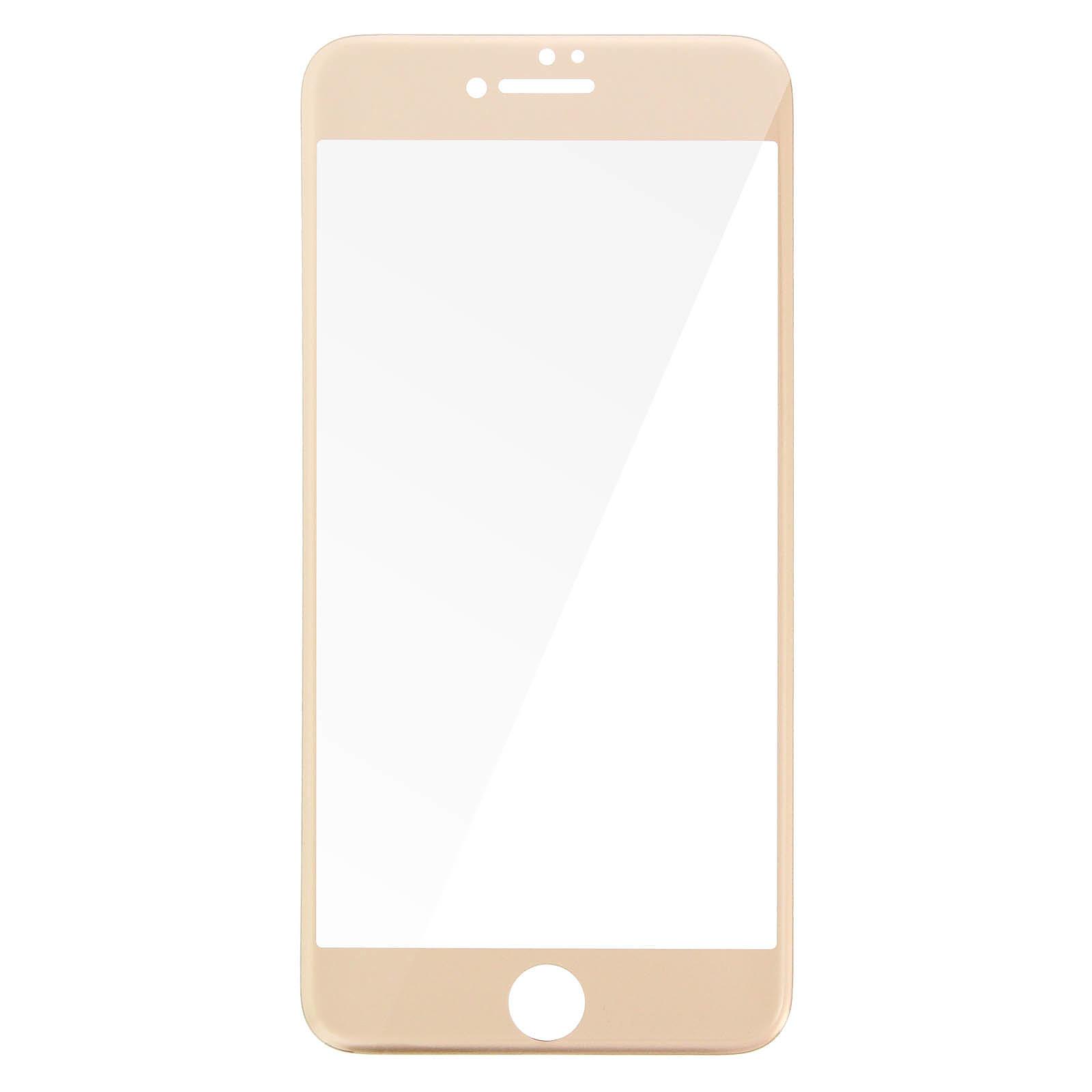 Avizar Film verre trempé Dorée pour Apple iPhone 7 Plus , Apple iPhone 8 Plus