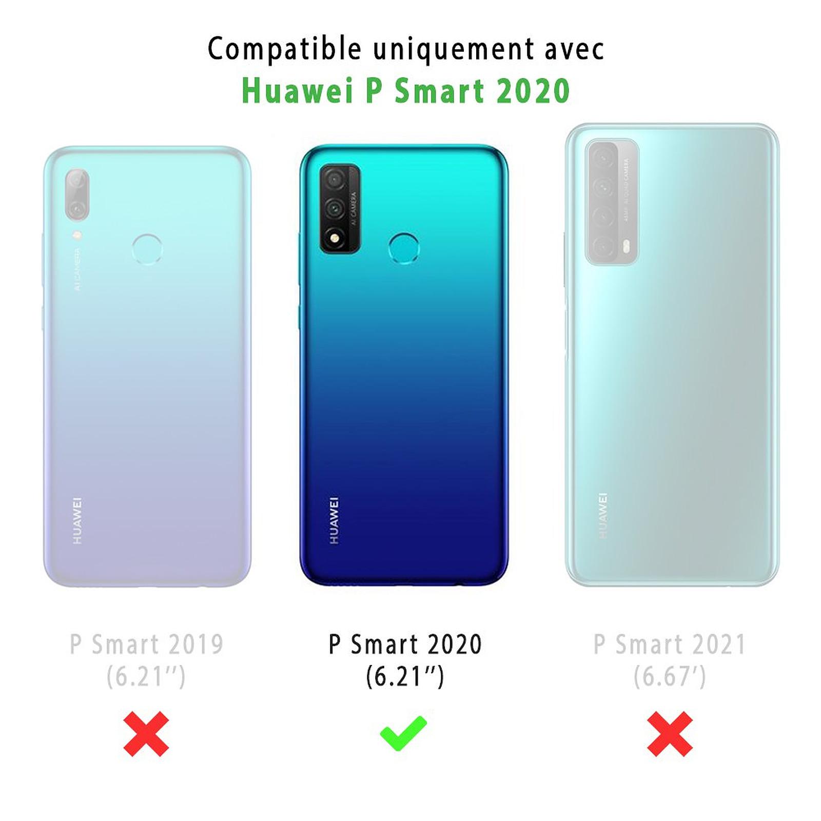 EVETANE Coque Huawei Psmart 2020 anti-choc souple angles renforcés transparente Ananas Fleuri