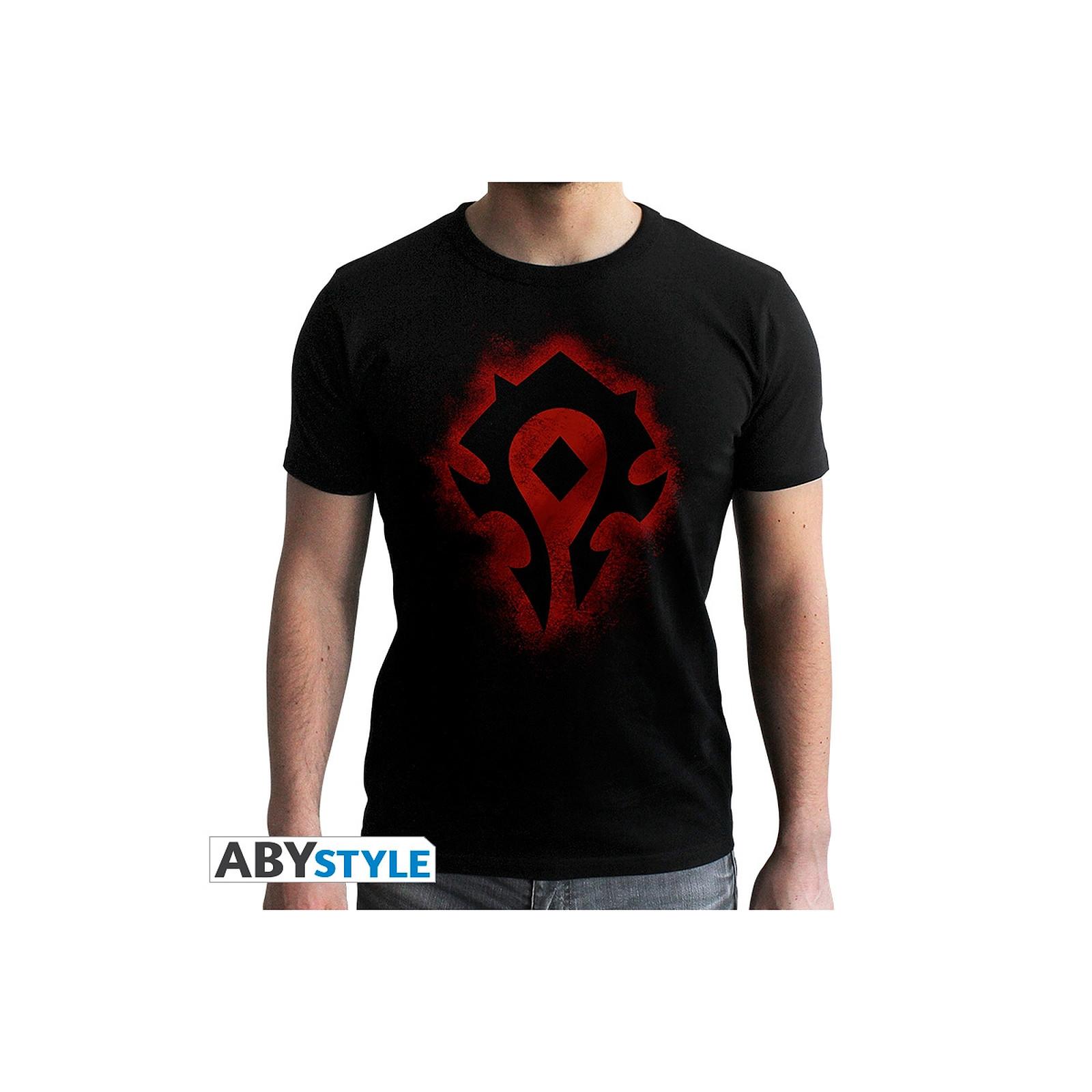 World Of Warcraft T shirt Horde homme MC black new fit