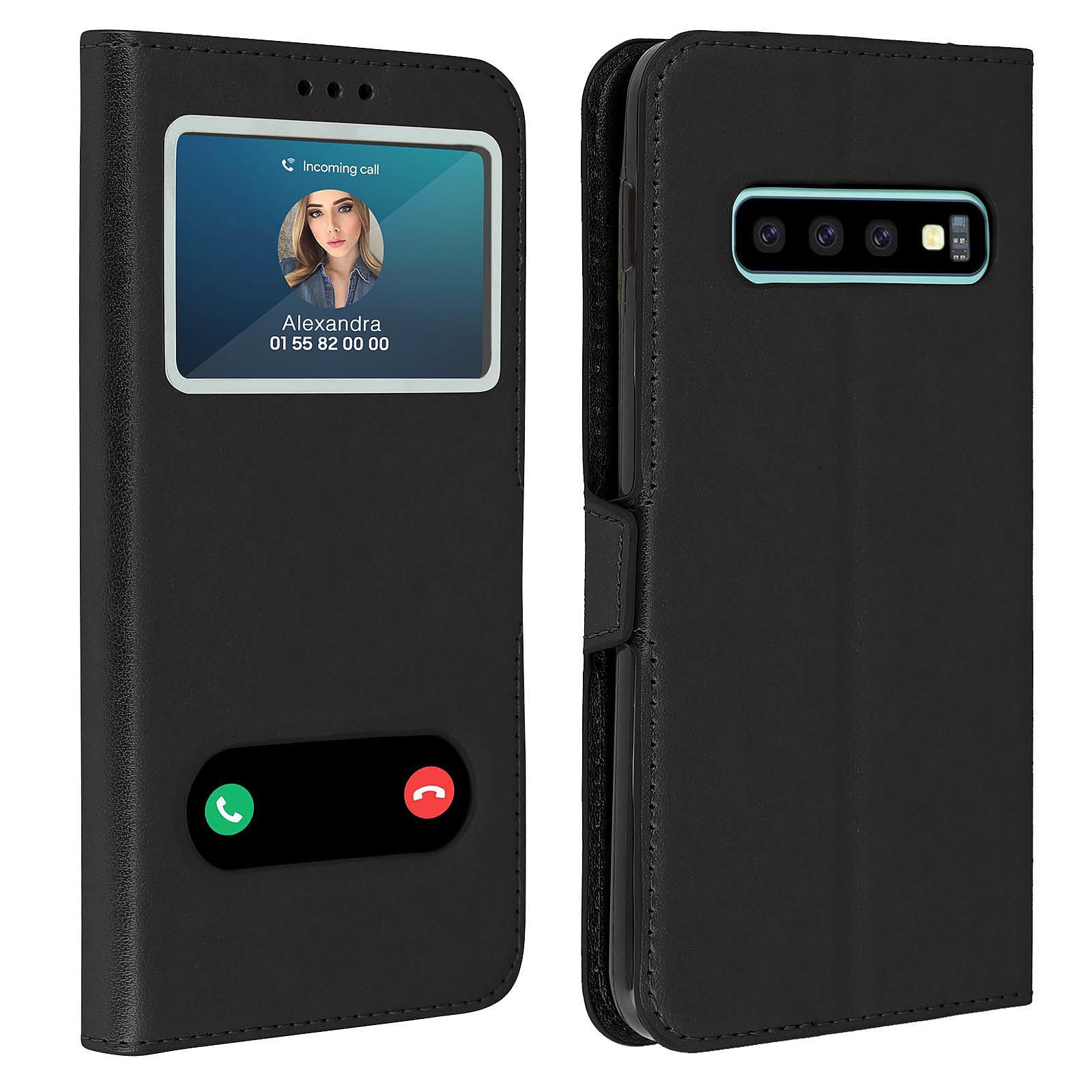Avizar Etui folio Noir pour Samsung Galaxy S10 Plus