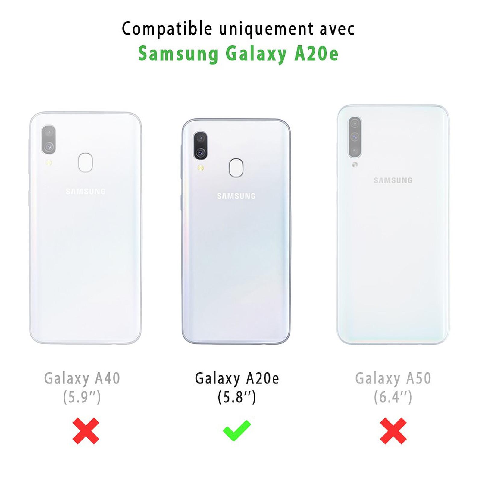 EVETANE Coque Samsung Galaxy A20e souple transparente Note de Musique