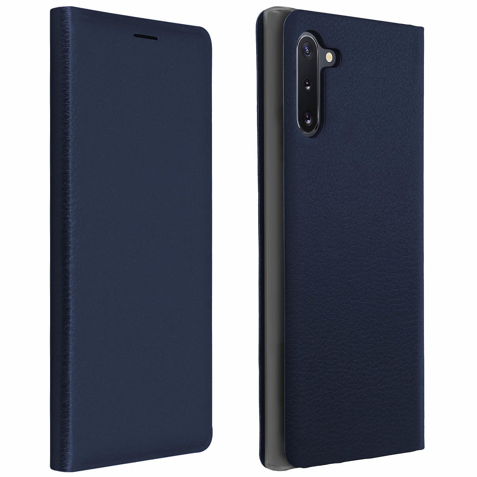Avizar Etui folio Bleu Nuit Porte-Carte pour Samsung Galaxy Note 10