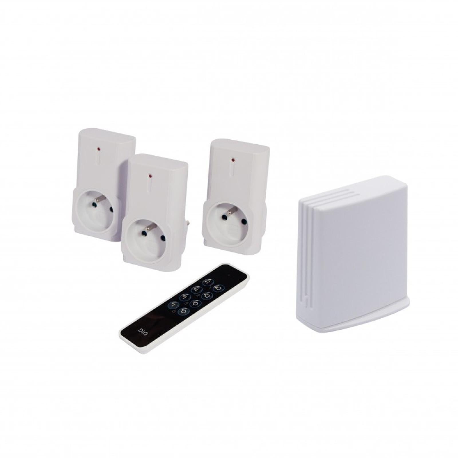 DiO Pack éclairage Connecté Litebox + 3 Prises + 1 Télécommande CH54580