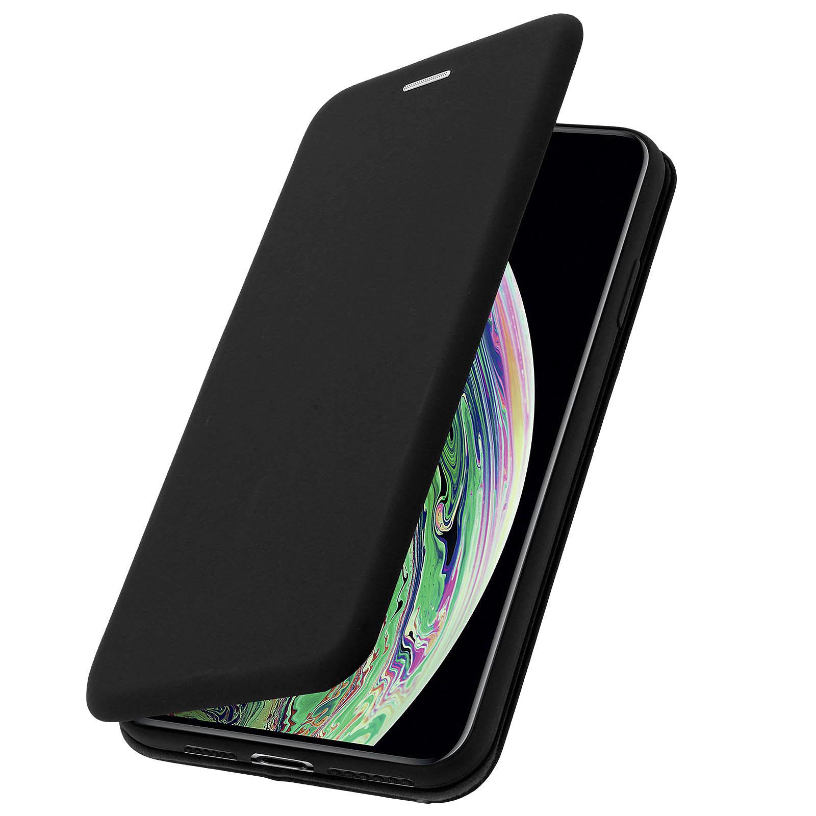 Avizar Etui folio Noir pour Apple iPhone XS Max