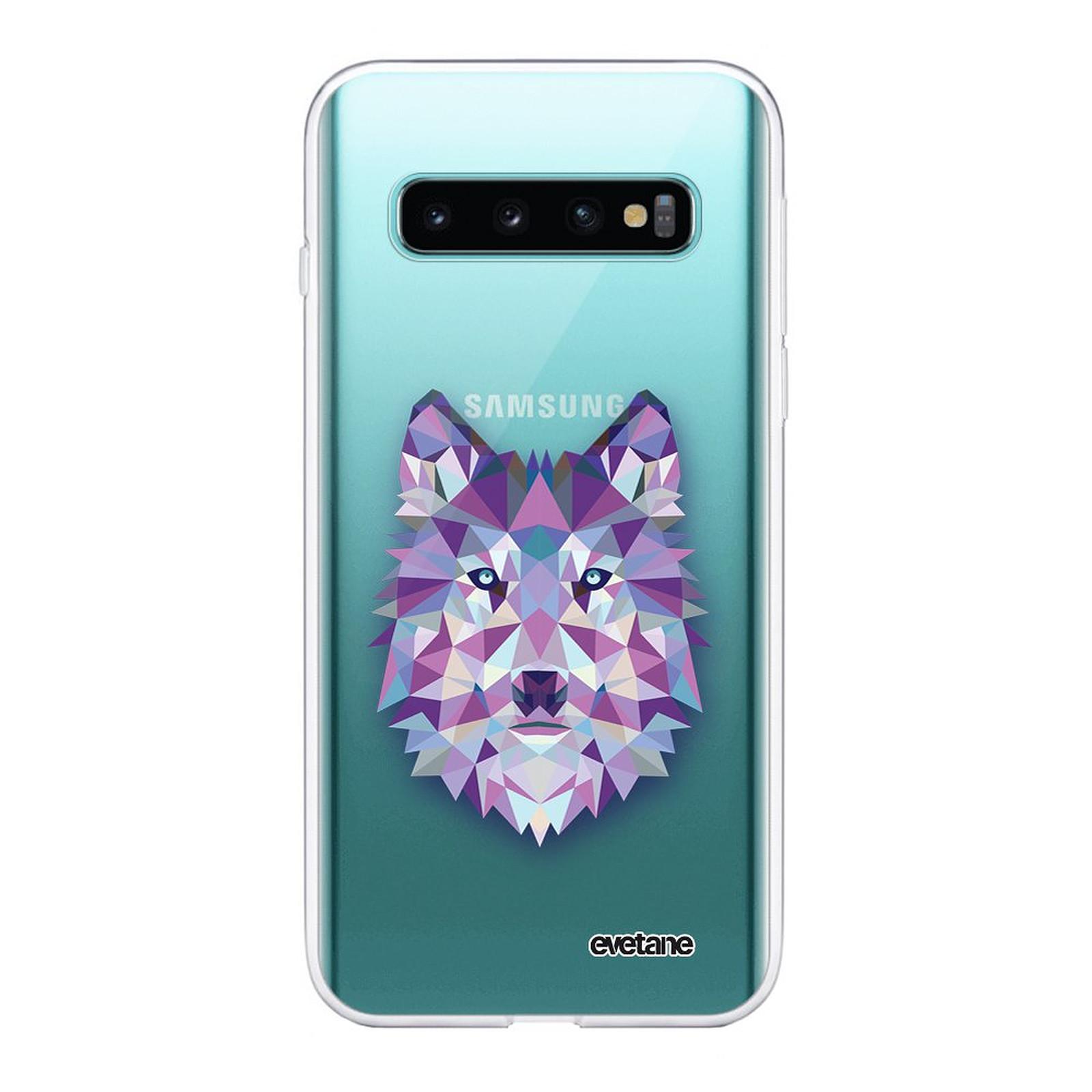 EVETANE Coque Samsung Galaxy S10 Plus 360 intégrale transparente Loup geometrique Tendance - Coque téléphone Evetane sur LDLC