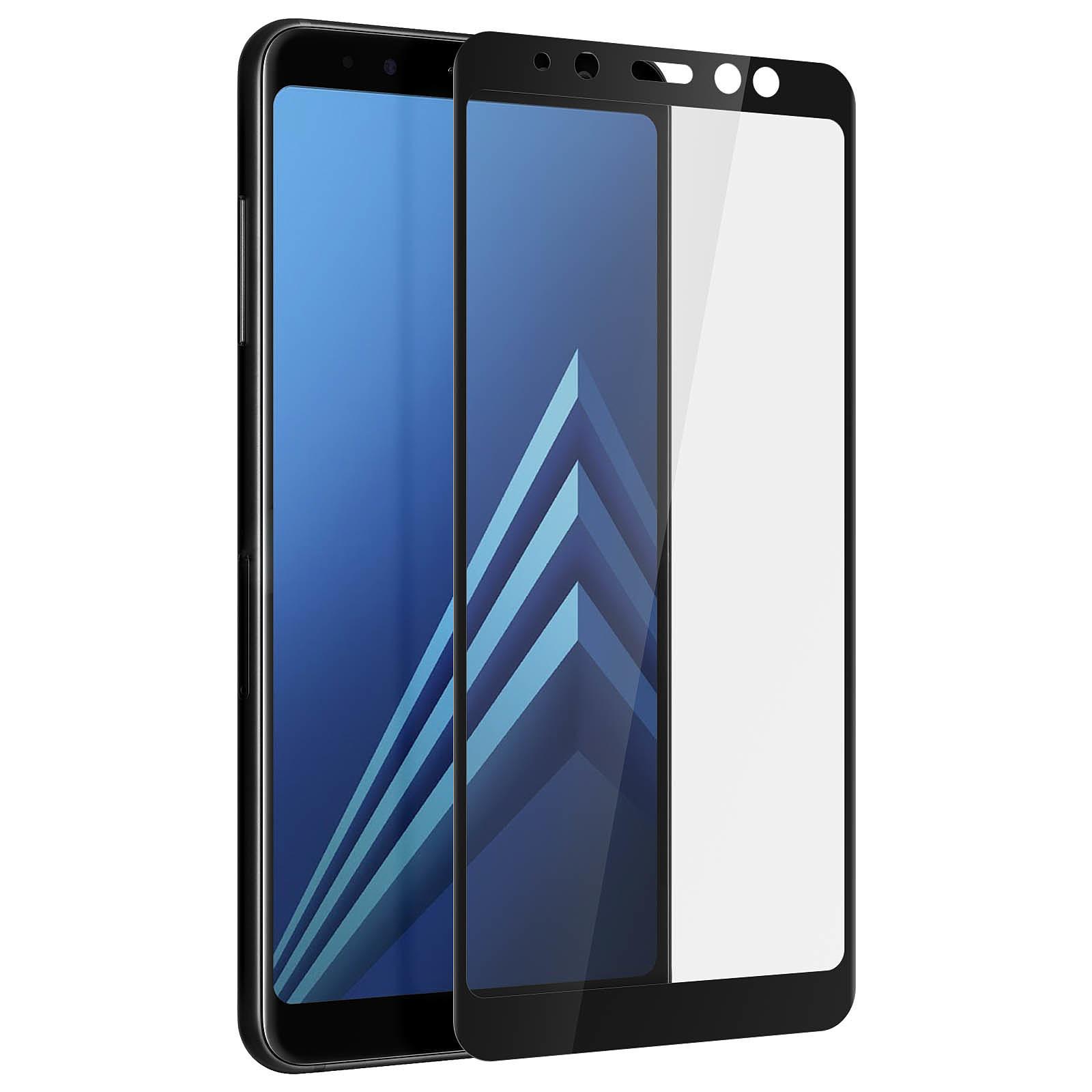 Avizar Film verre trempé Noir pour Samsung Galaxy A8