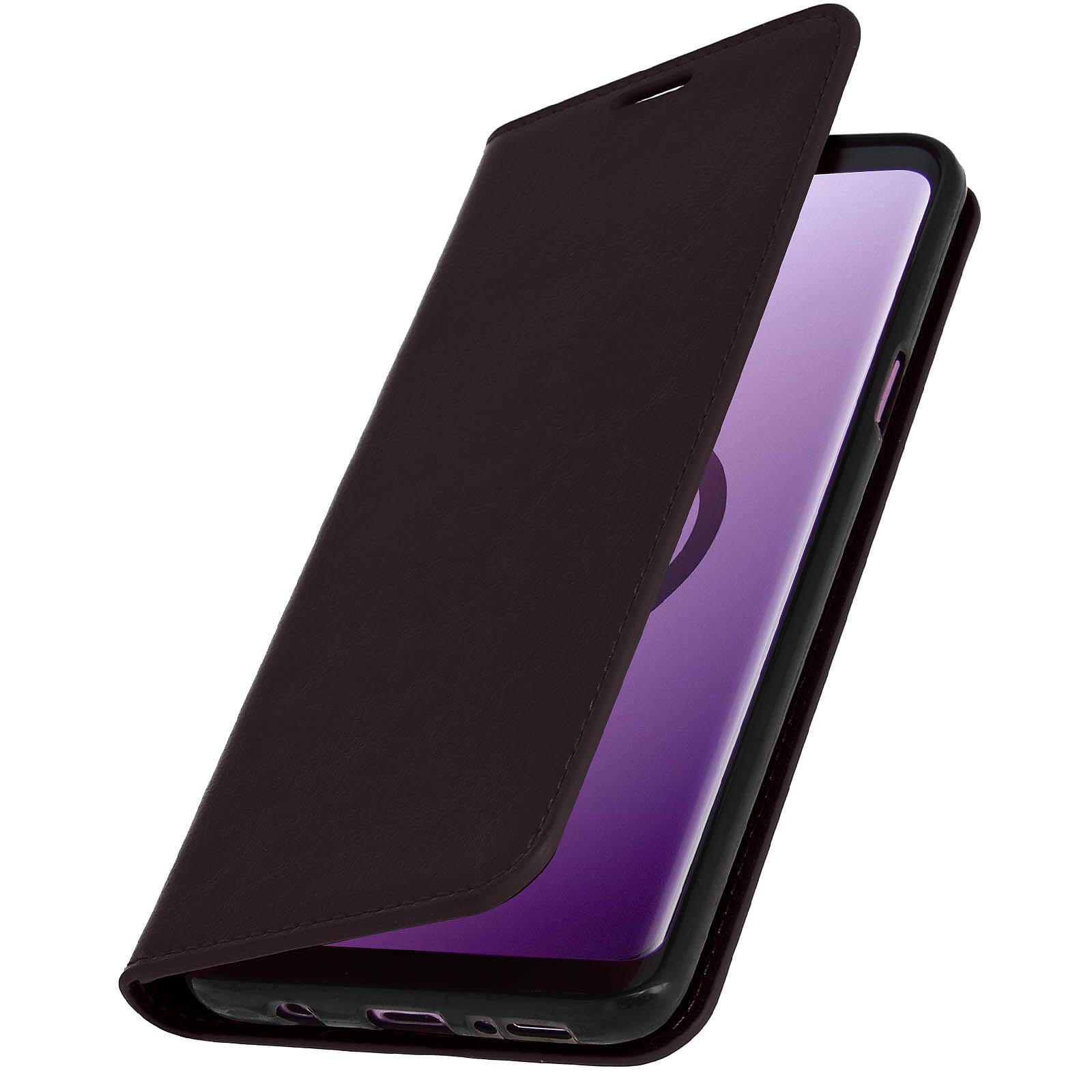 Avizar Etui folio Marron pour Samsung Galaxy S9 Plus