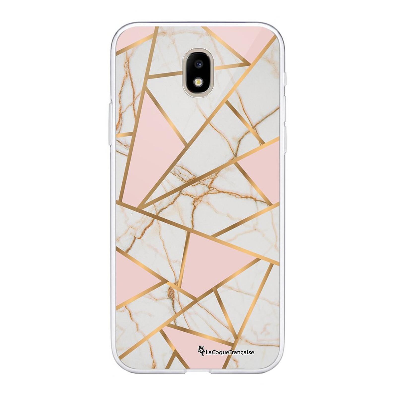 LA COQUE FRANCAISE Coque Samsung Galaxy J5 2017 souple transparente Marbre Rose - Coque téléphone LaCoqueFrançaise sur LDLC