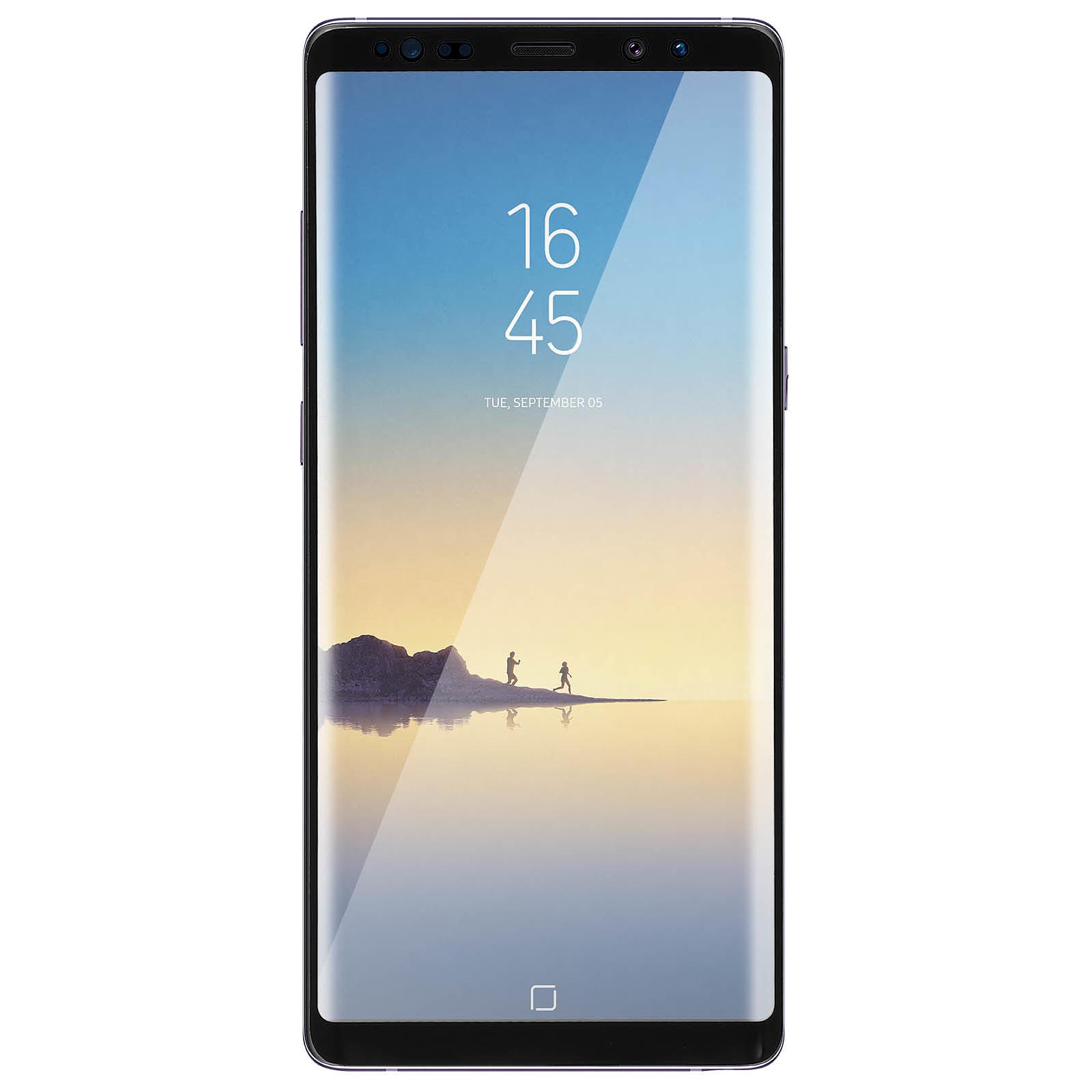 Avizar Film verre trempé Noir pour Samsung Galaxy Note 8