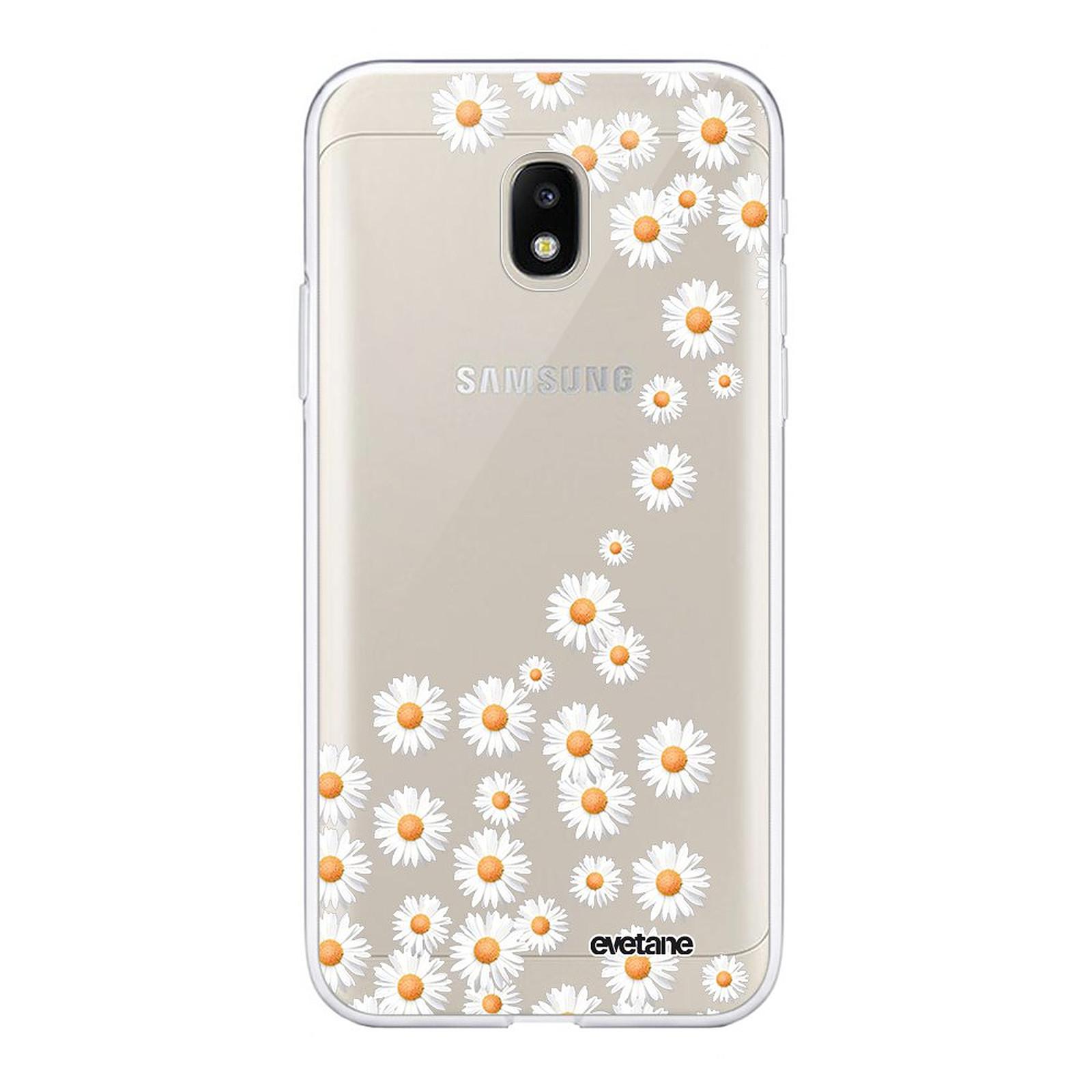 EVETANE Coque Samsung Galaxy J3 2017 souple transparente Marguerite - Coque téléphone Evetane sur LDLC