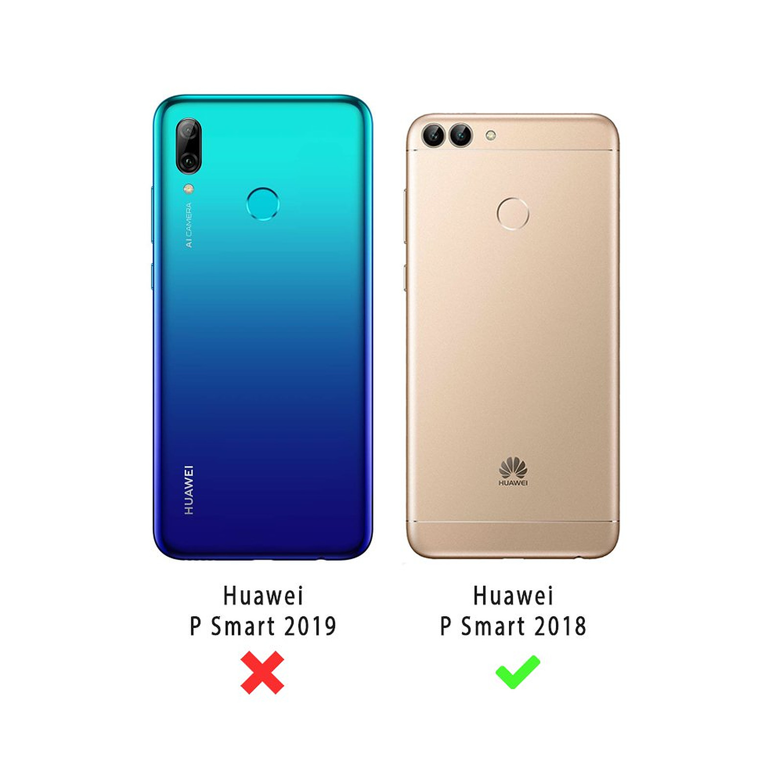 LA COQUE FRANCAISE Coque Huawei P Smart 2018 souple transparente TrioCo