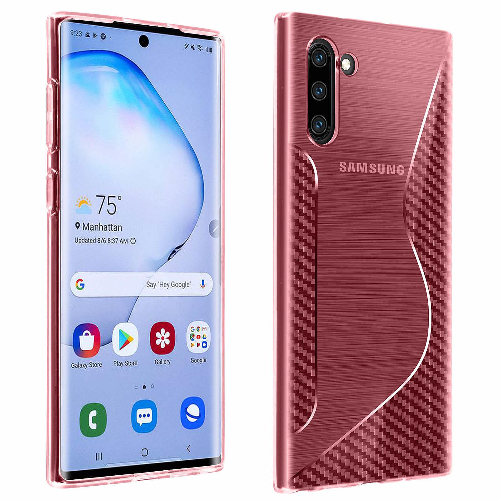 Avizar Coque Rose S-Line pour Samsung Galaxy Note 10