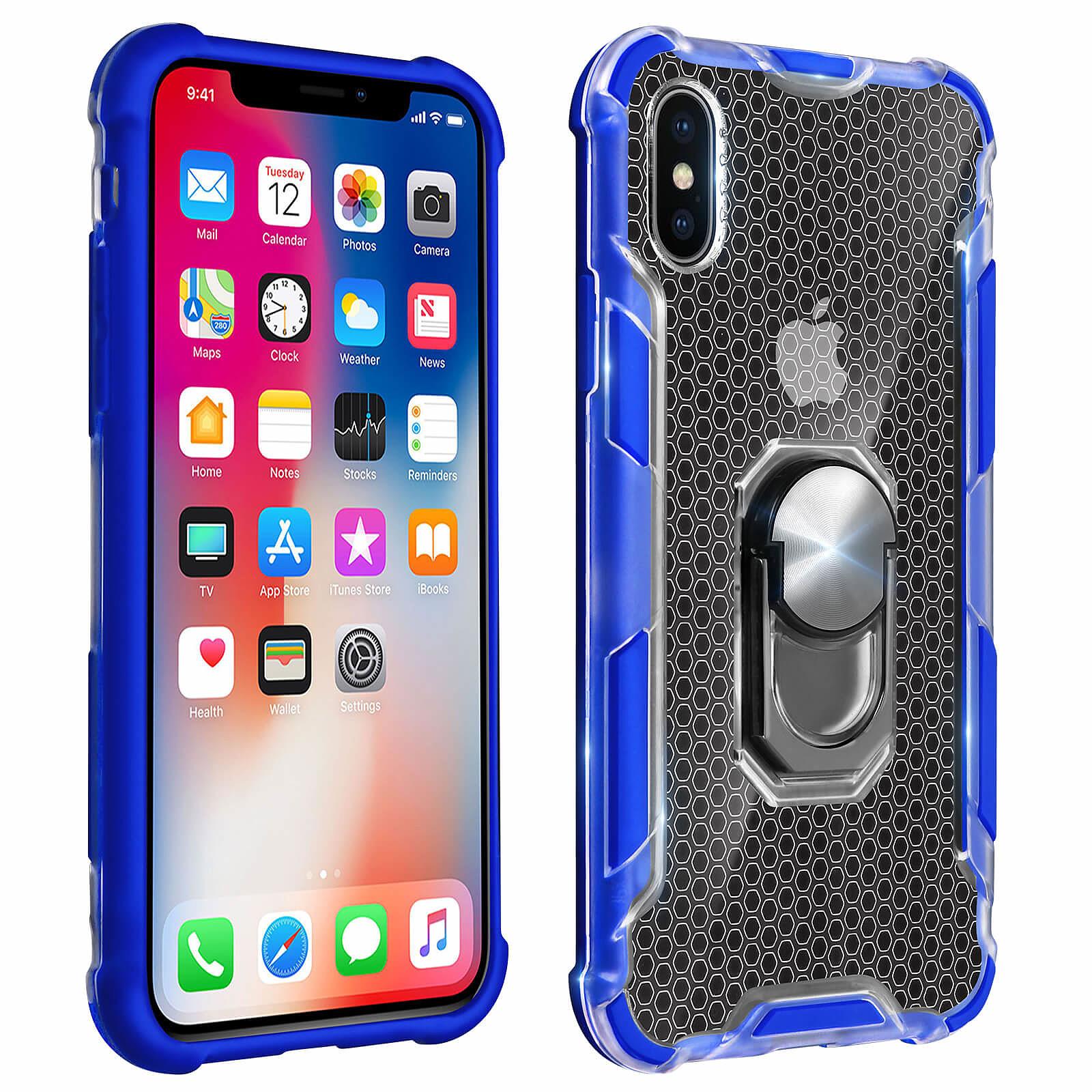 Avizar Coque Bleu Hybride pour Apple iPhone X , Apple iPhone XS