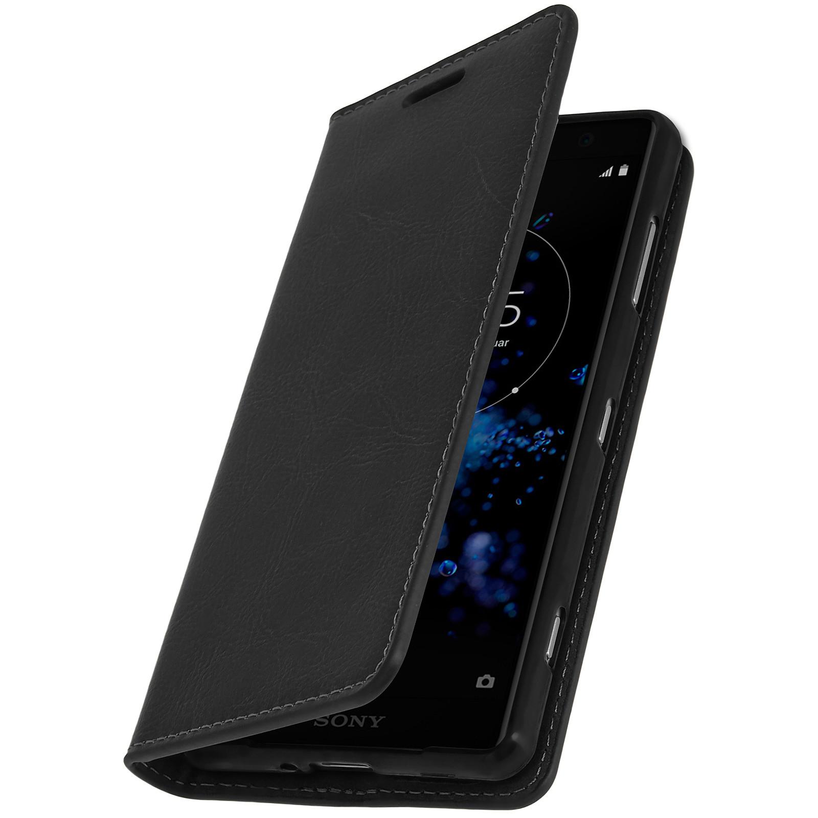 Avizar Etui folio Noir pour Sony Xperia XZ2