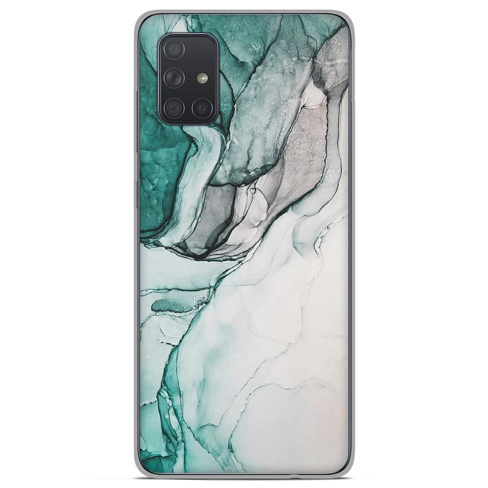 1001 Coques Coque silicone gel Samsung Galaxy A51 motif Zoom sur Pierre Vert - Coque téléphone 1001Coques sur LDLC