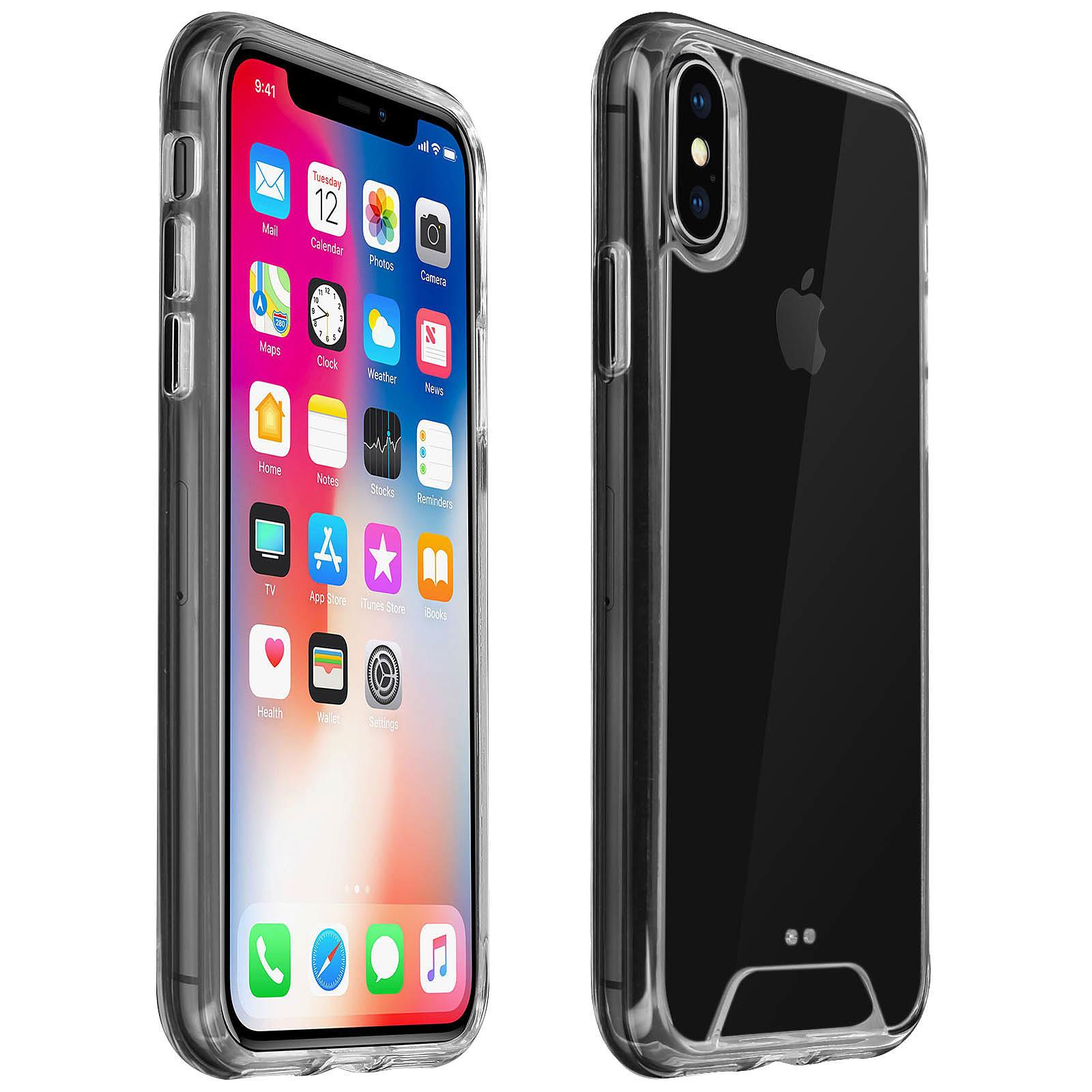 Avizar Coque Transparent Bi-matières pour Apple iPhone X , Apple iPhone XS