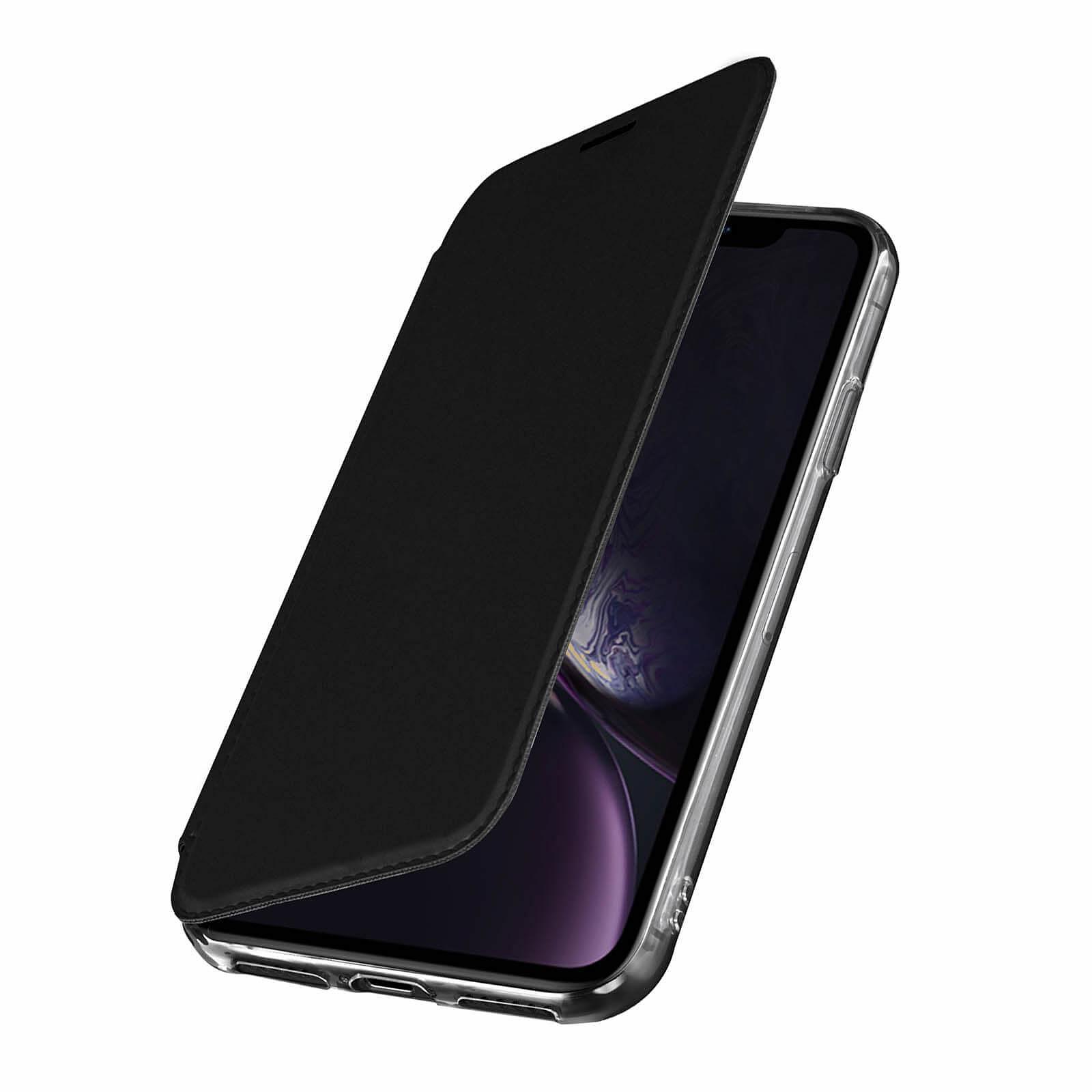 Avizar Etui folio Noir Miroir pour Apple iPhone XR