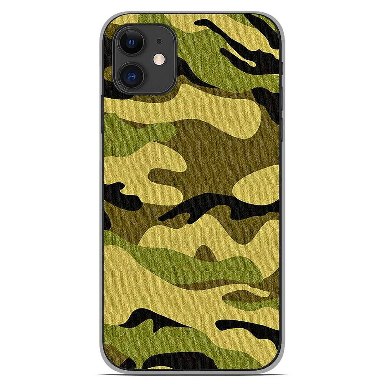 1001 Coques Coque silicone gel Apple iPhone 11 motif Camouflage