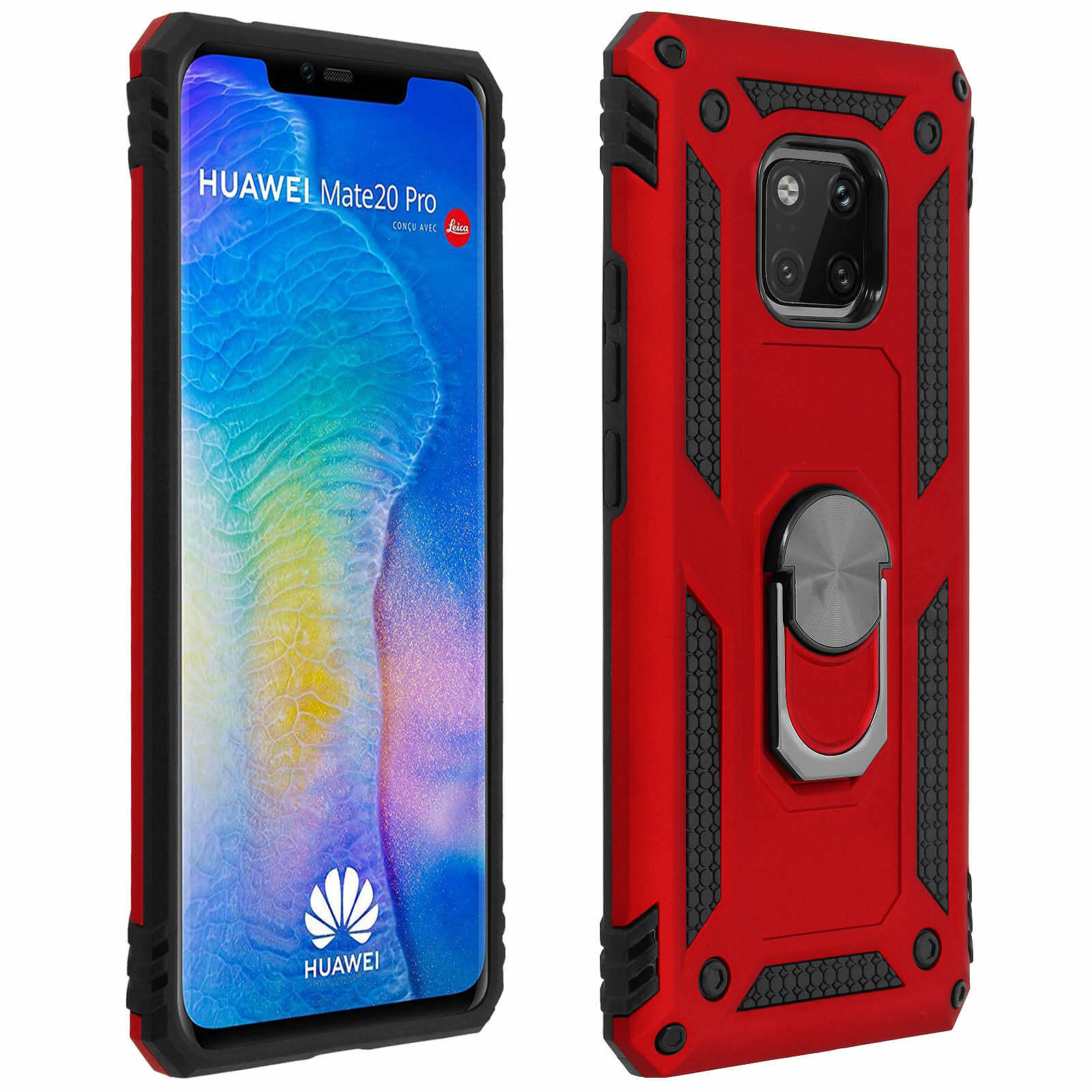 Avizar Coque Rouge pour Huawei Mate 20 Pro