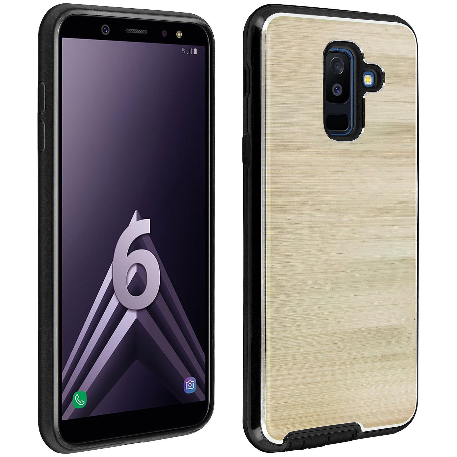 Avizar Coque Dorée Hybride pour Samsung Galaxy A6 Plus
